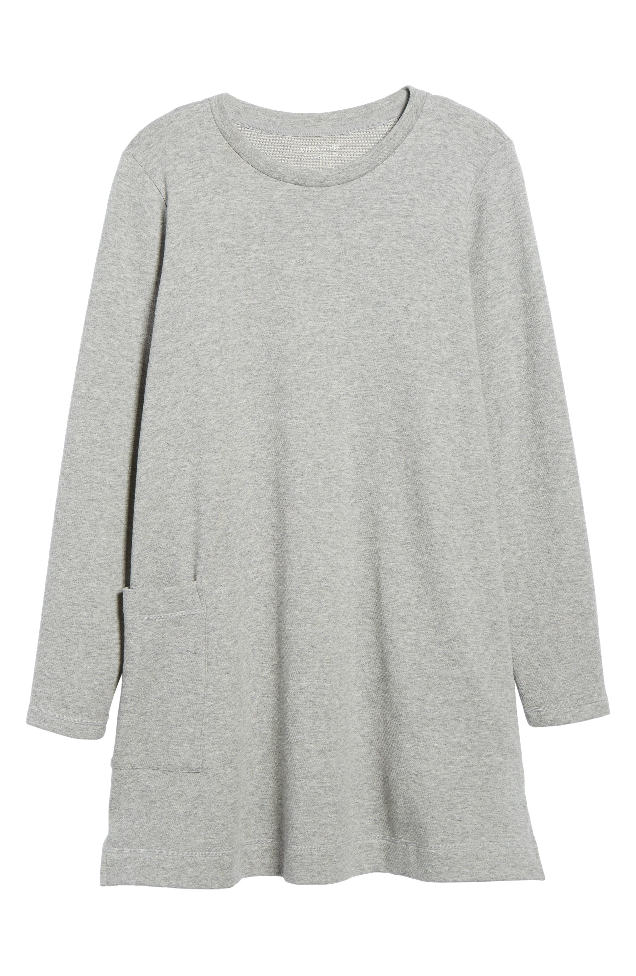 Double Knit Organic Cotton Tunic,                             Alternate thumbnail 6, color,                             Dark Pearl