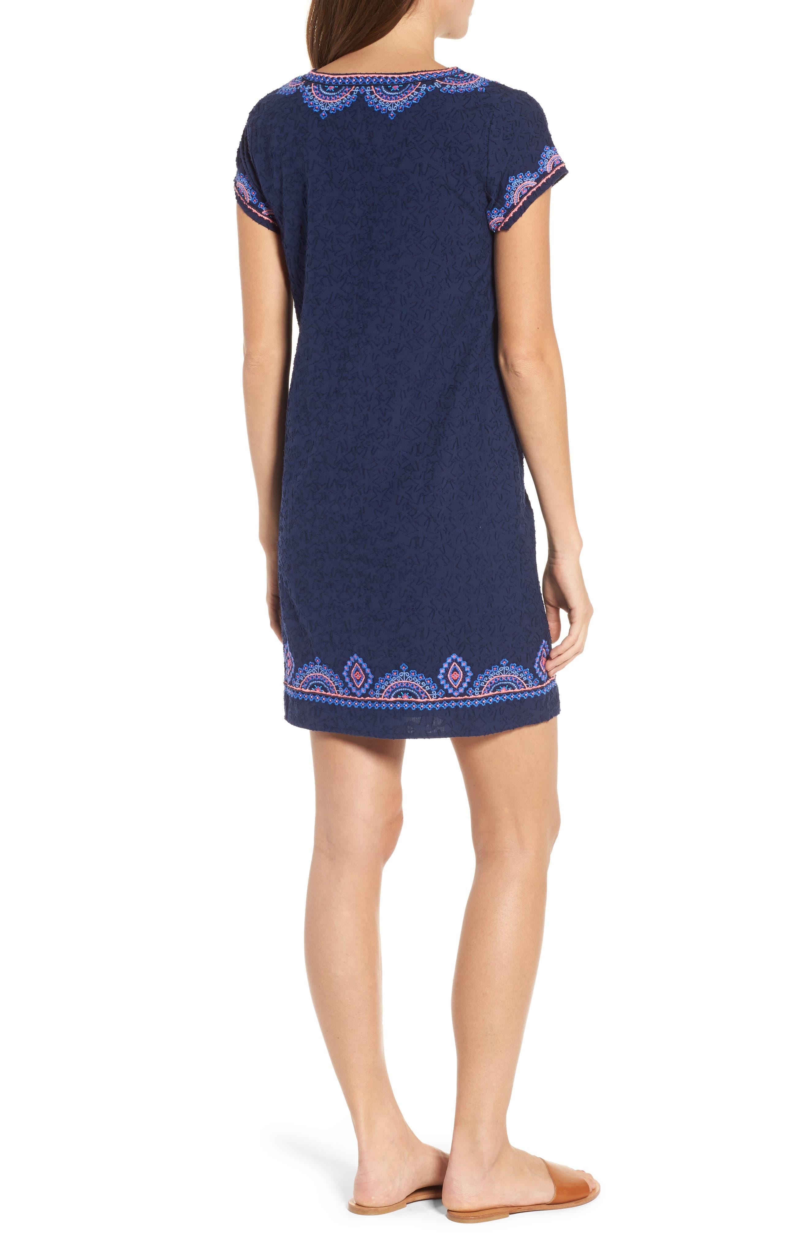 Starfish Burnout Tunic Dress,                             Alternate thumbnail 2, color,                             Deep Bay