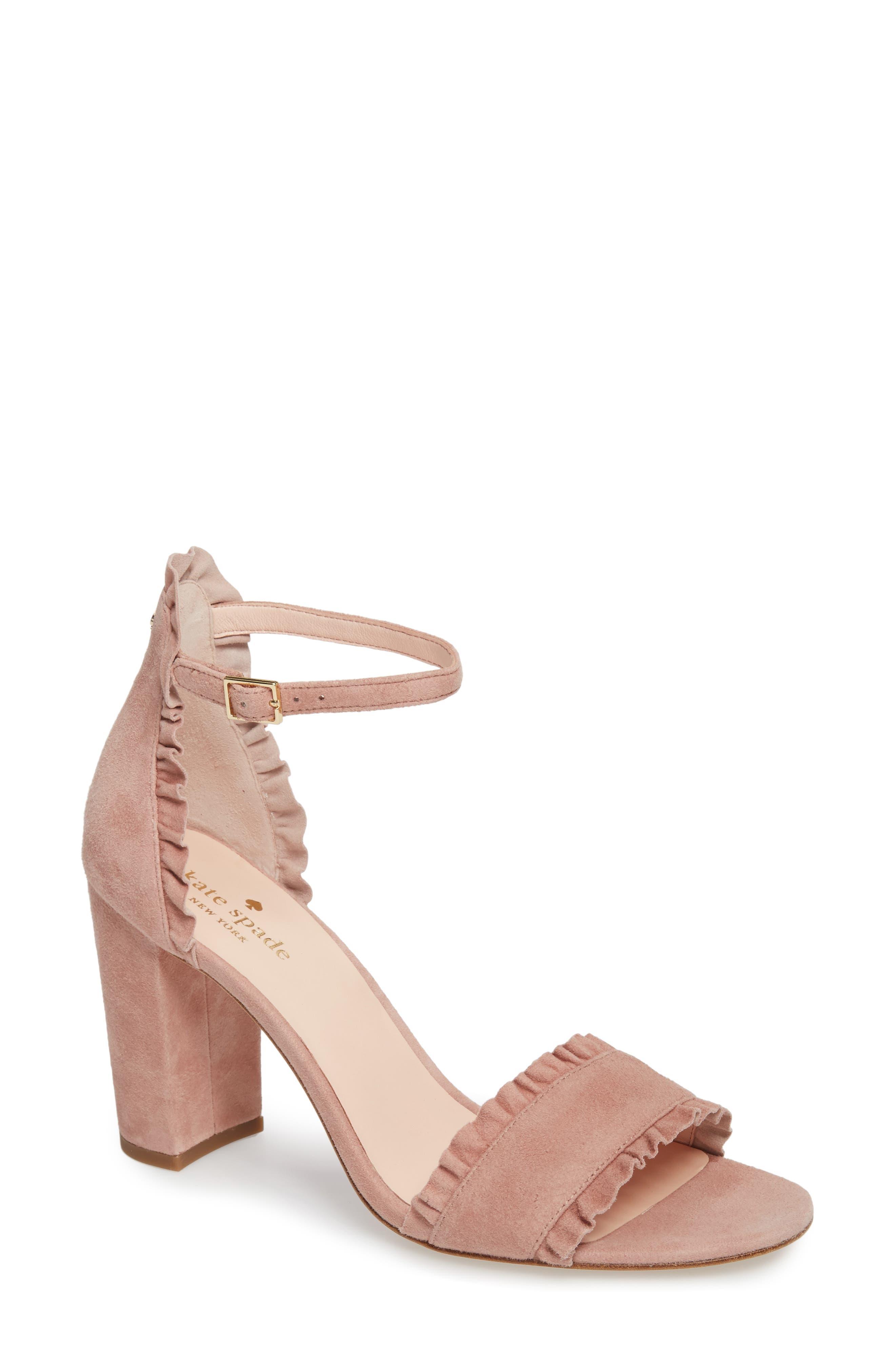 47537a49760b Kate Spade Odele Suede Ruffle City Sandal In Black Suede