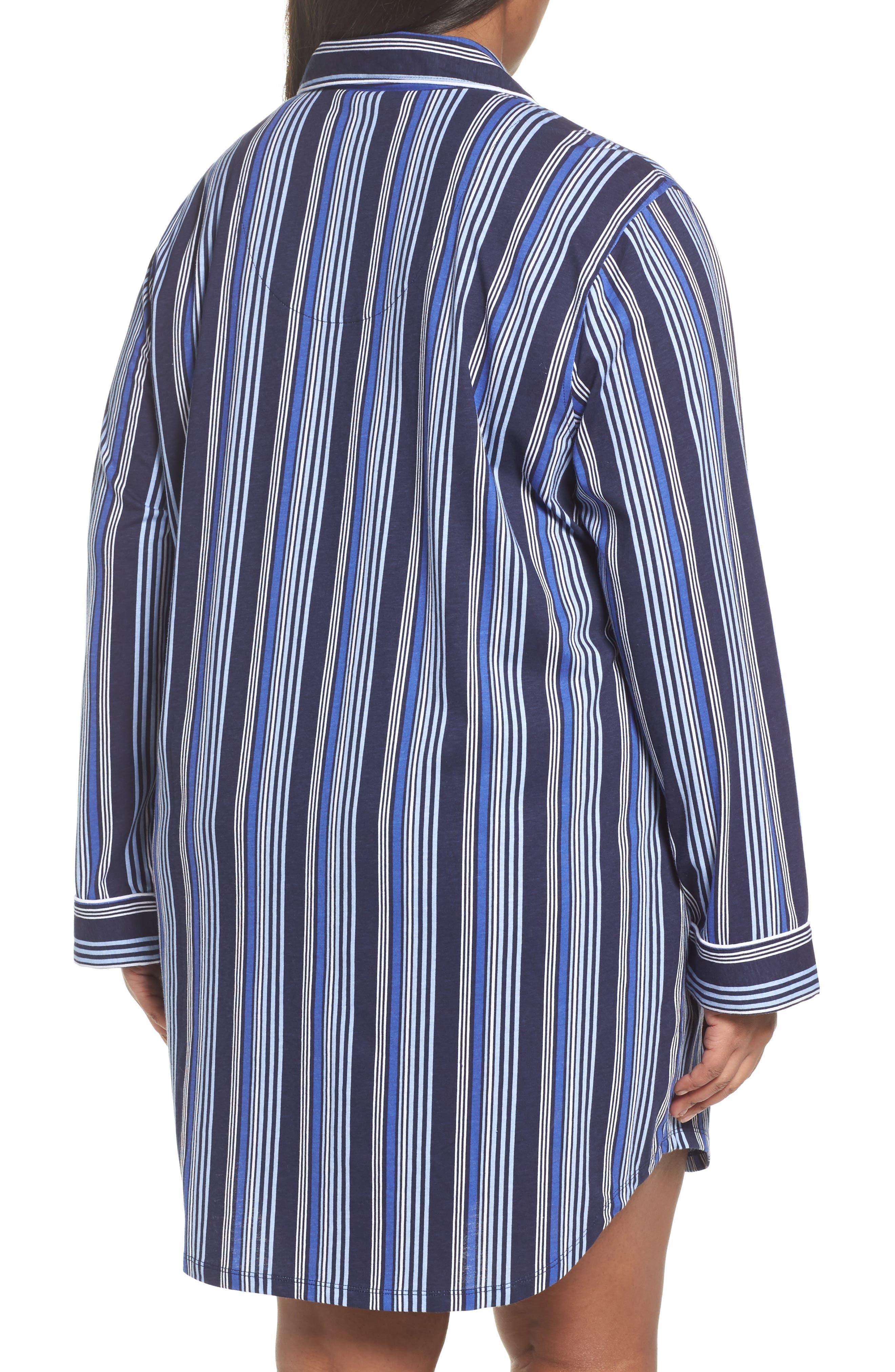 Stripe Night Shirt,                             Alternate thumbnail 2, color,                             Blue Stripe