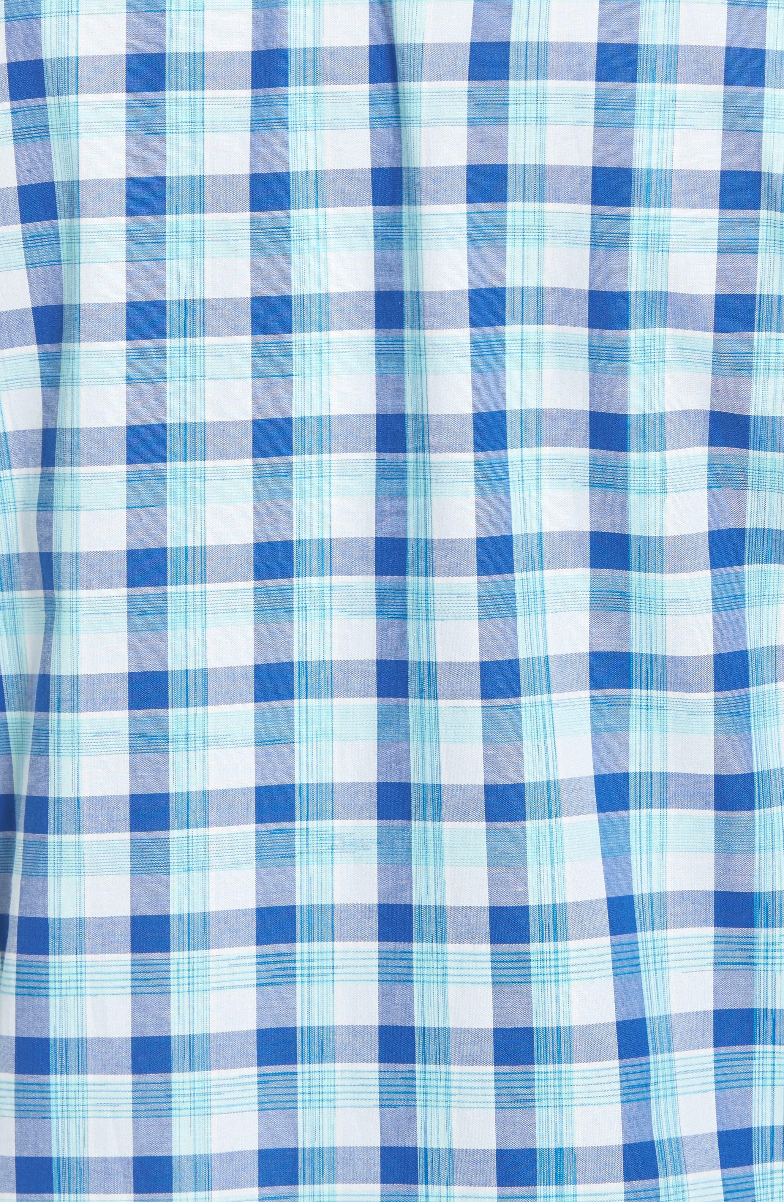Atlantic Tides Regular Fit Plaid Sport Shirt,                             Alternate thumbnail 5, color,                             Galaxy Blue