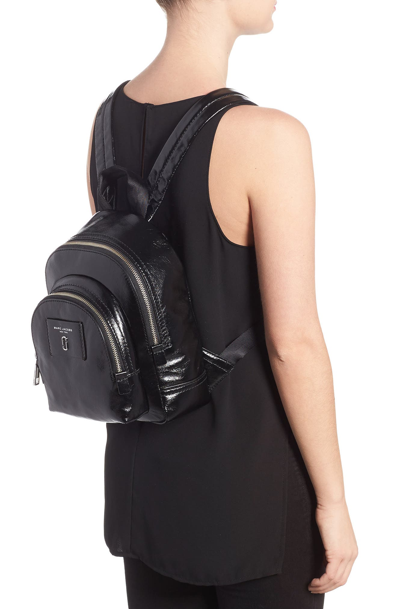 Alternate Image 2  - MARC JACOBS Mini Double Pack Leather Backpack
