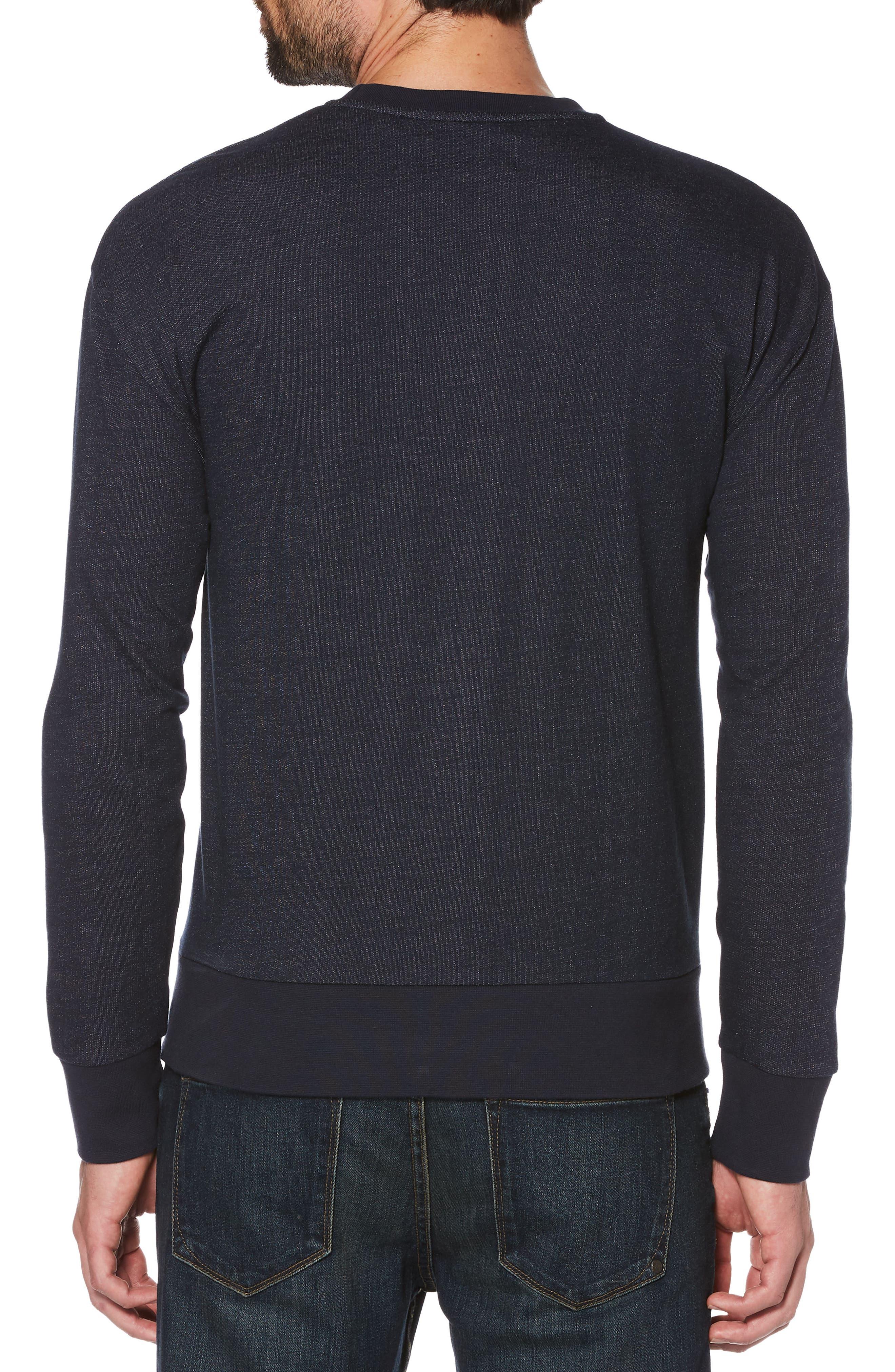 Lemon Crewneck Sweatshirt,                             Alternate thumbnail 2, color,                             Dark Sapphire