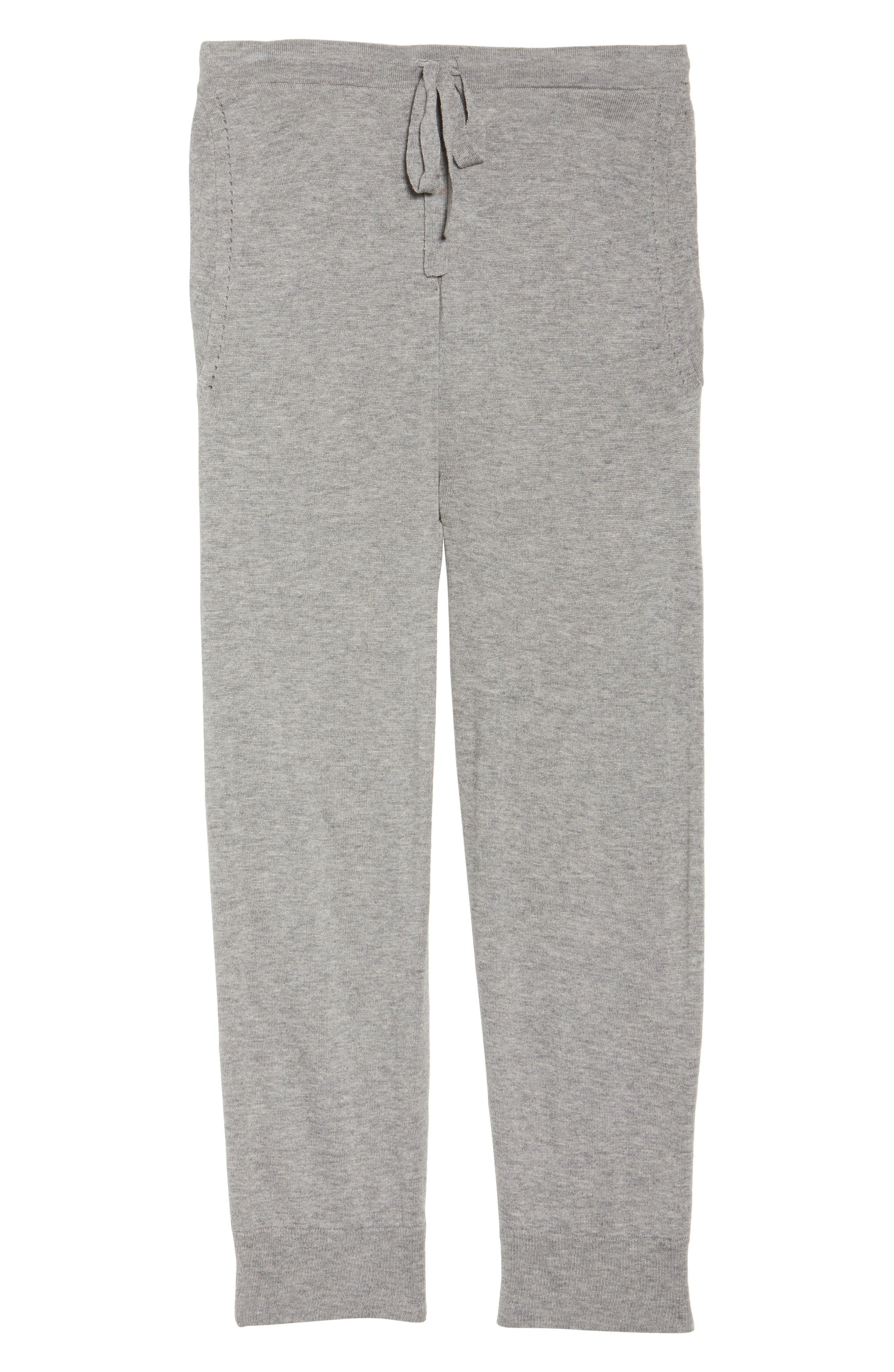 Myla Lounge Pants,                             Alternate thumbnail 4, color,                             Heather Grey