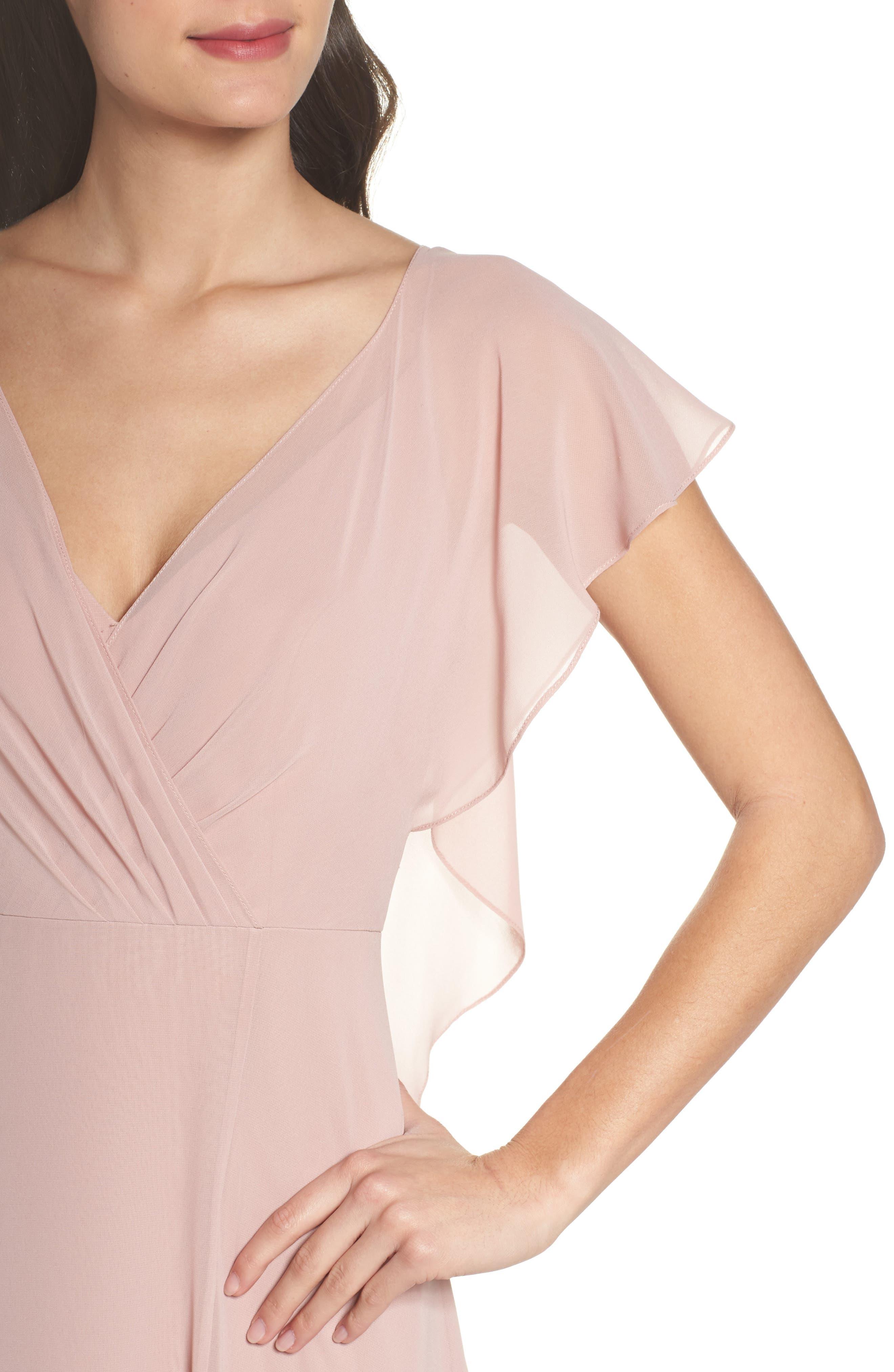 Alternate Image 4  - Jenny Yoo Alanna Open Back Chiffon Gown