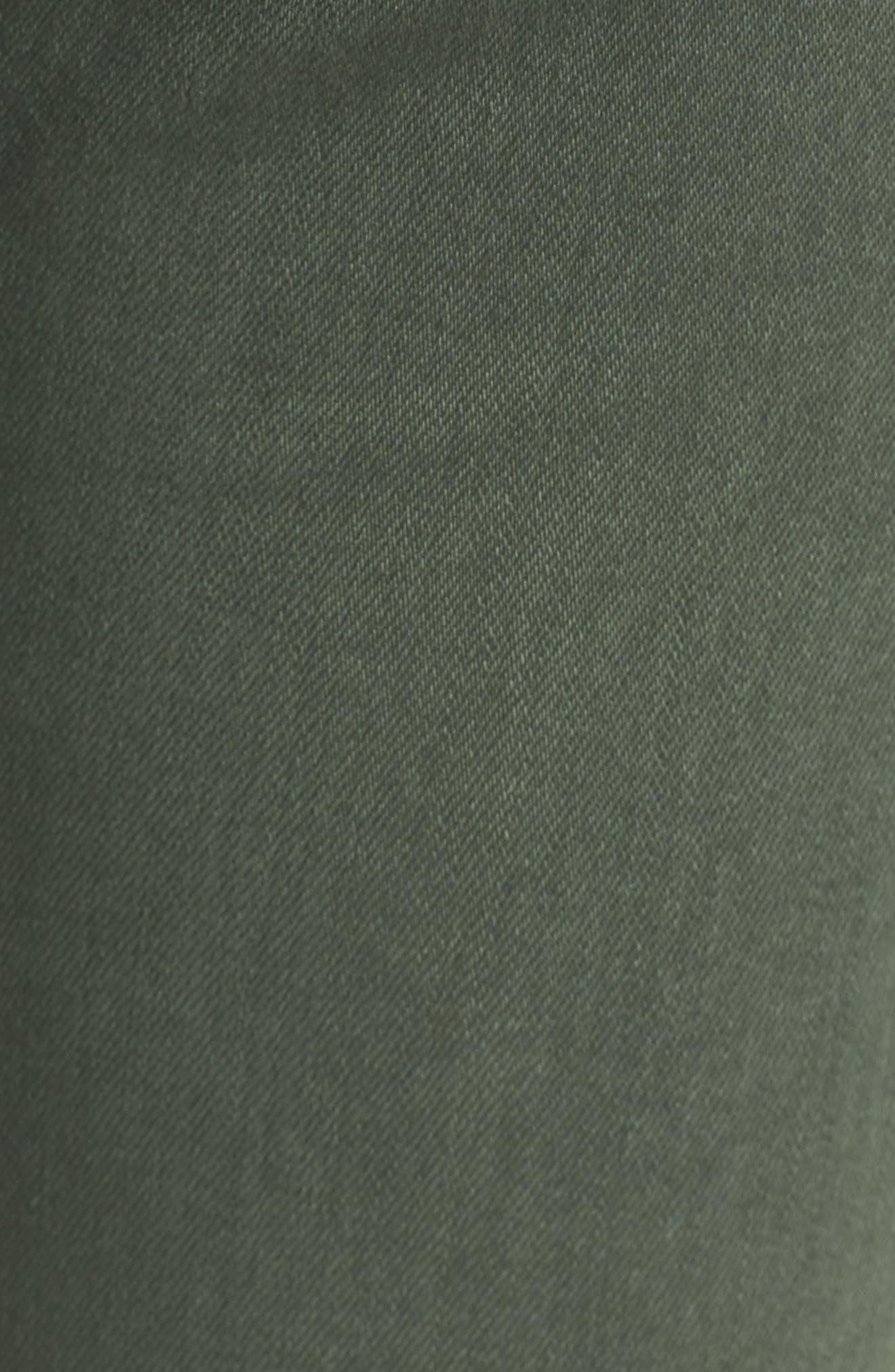 The Isabelle High Waist Crop Straight Leg Jeans,                             Alternate thumbnail 6, color,                             1 Year Sulfur Desert Pine