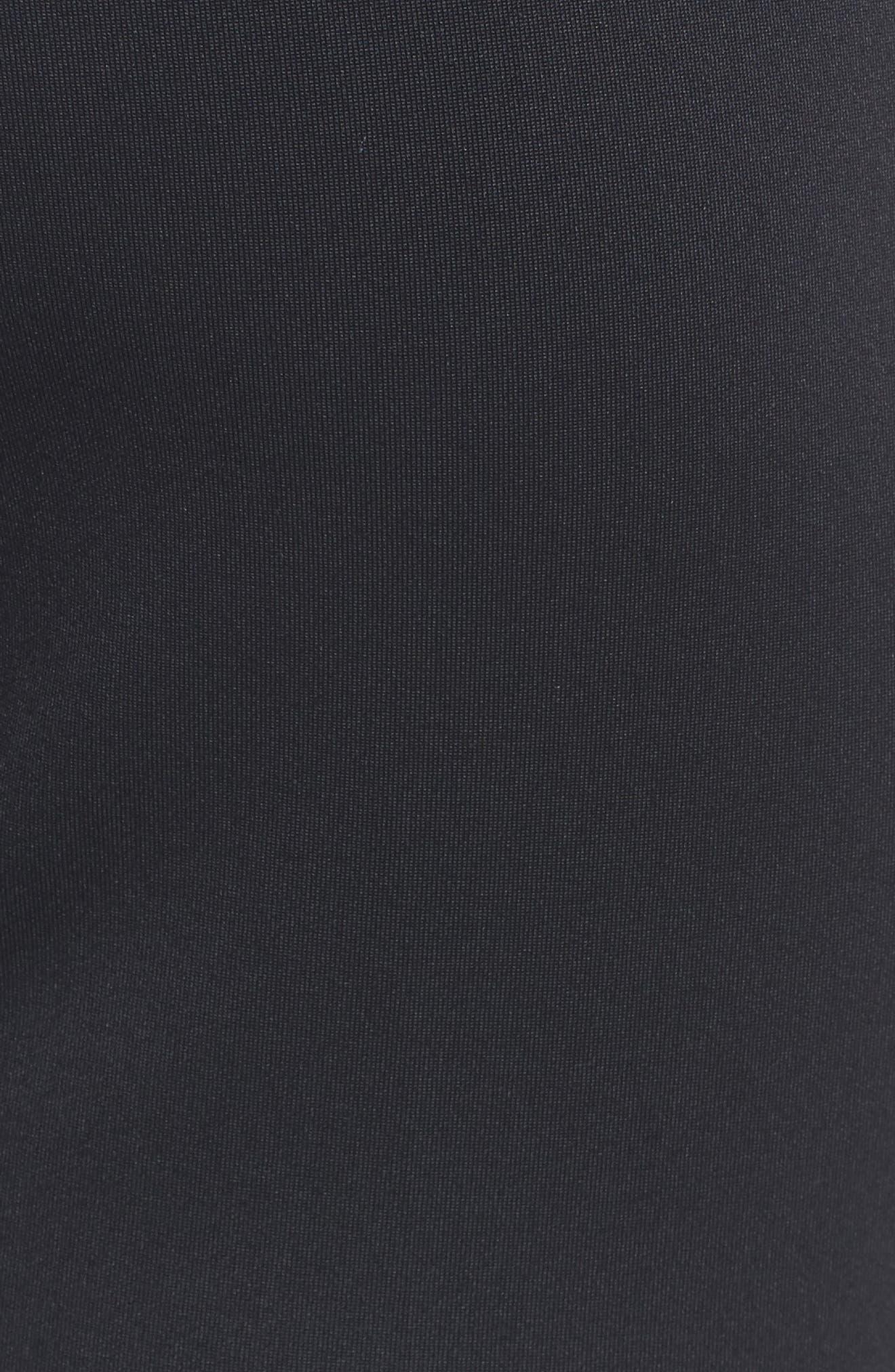 Rhinestone Side Stripe Track Pants,                             Alternate thumbnail 5, color,                             Black