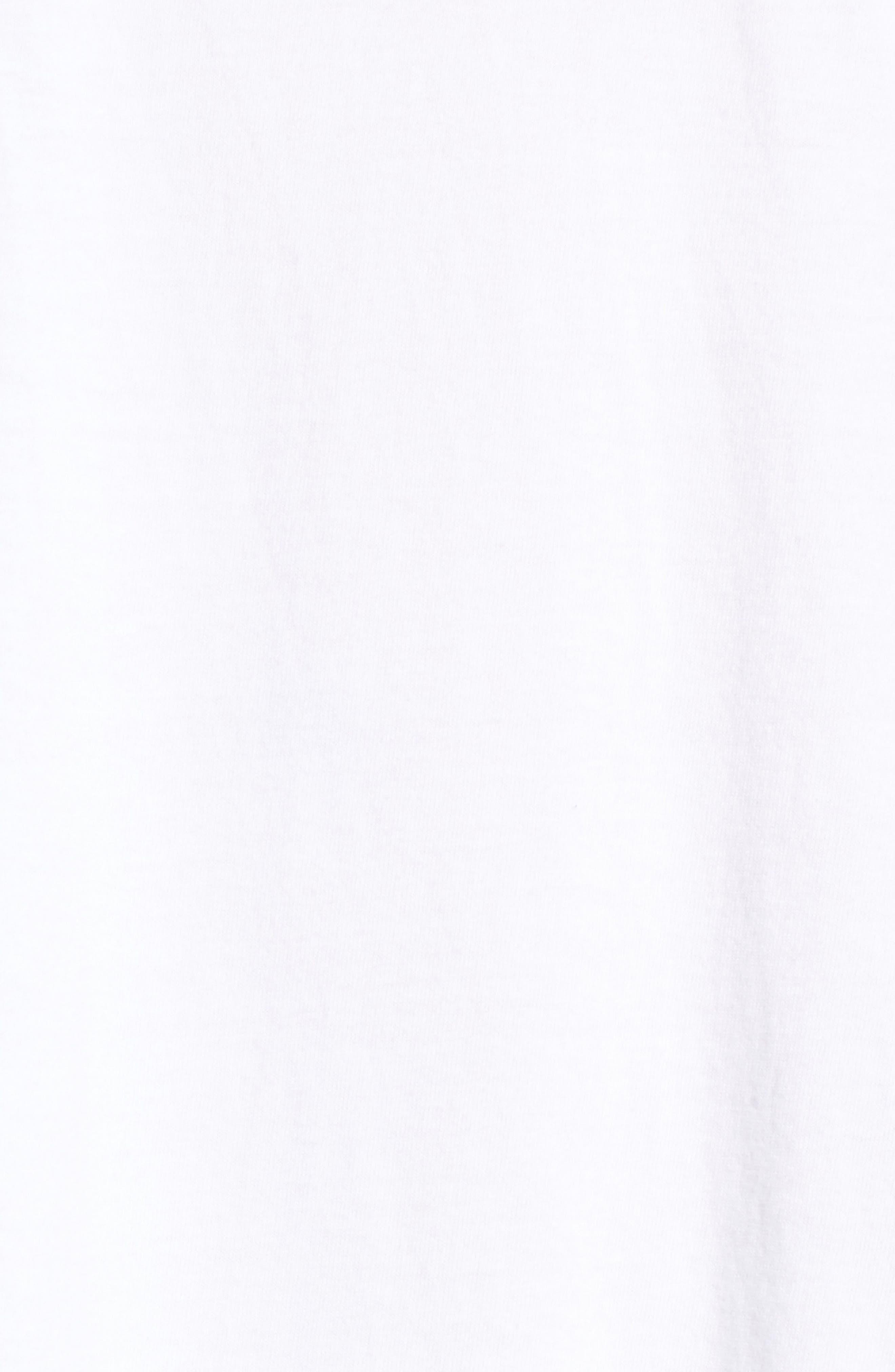 Mixed Media T-Shirt Dress,                             Alternate thumbnail 5, color,                             White