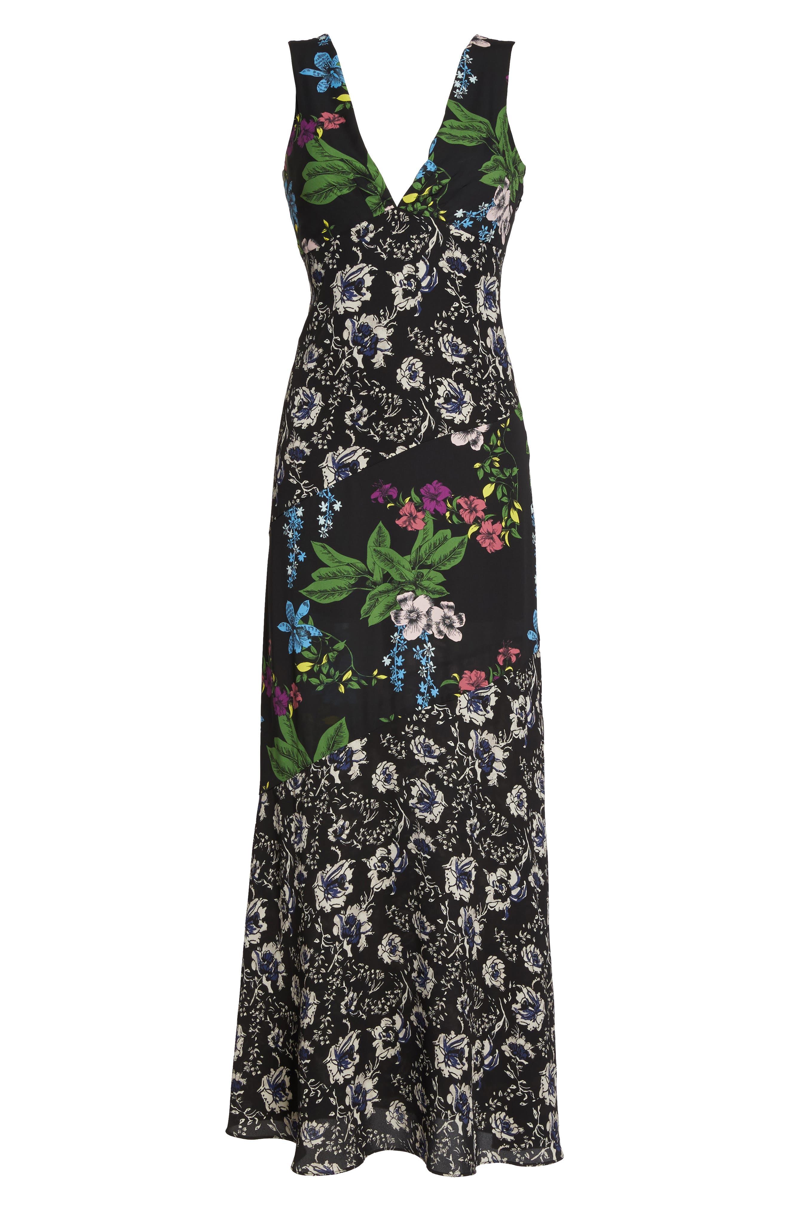 Floral Maxi Dress,                             Alternate thumbnail 6, color,                             Multi Botanical