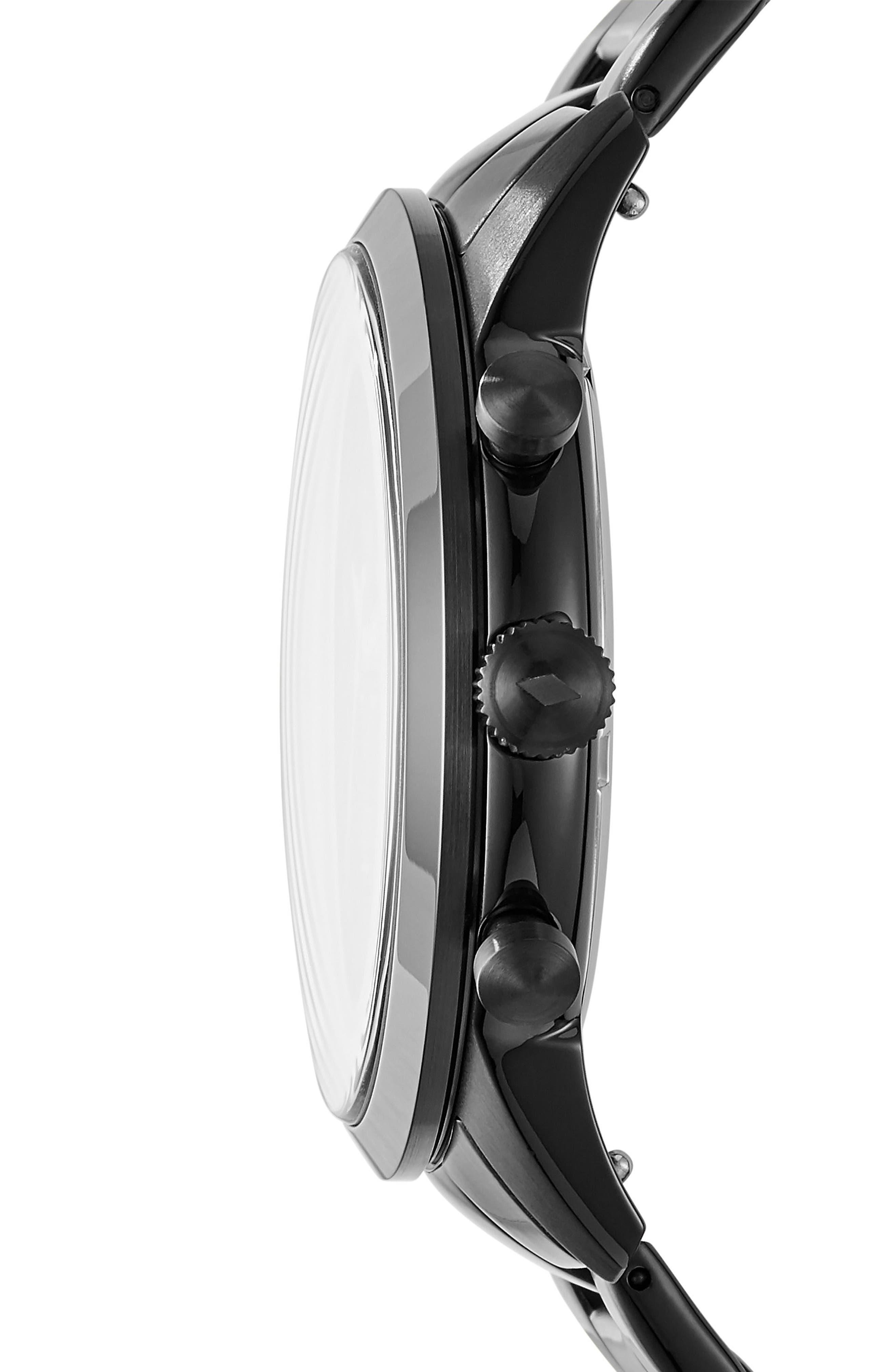 Townsman Chronograph Bracelet Watch, 44mm,                             Alternate thumbnail 2, color,                             Black
