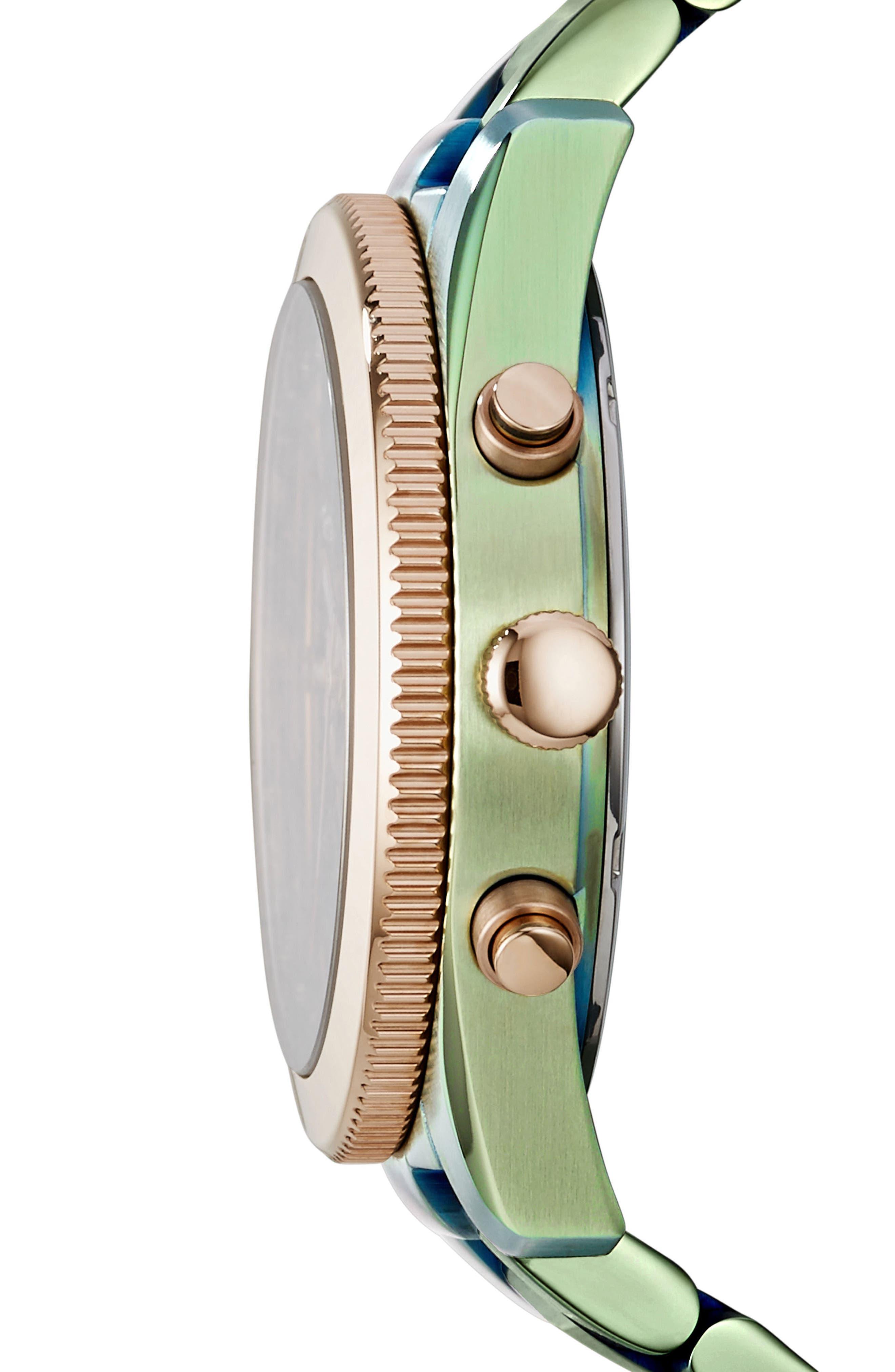 Alternate Image 2  - Fossil 'Perfect Boyfriend' Multifunction Bracelet Watch, 39mm