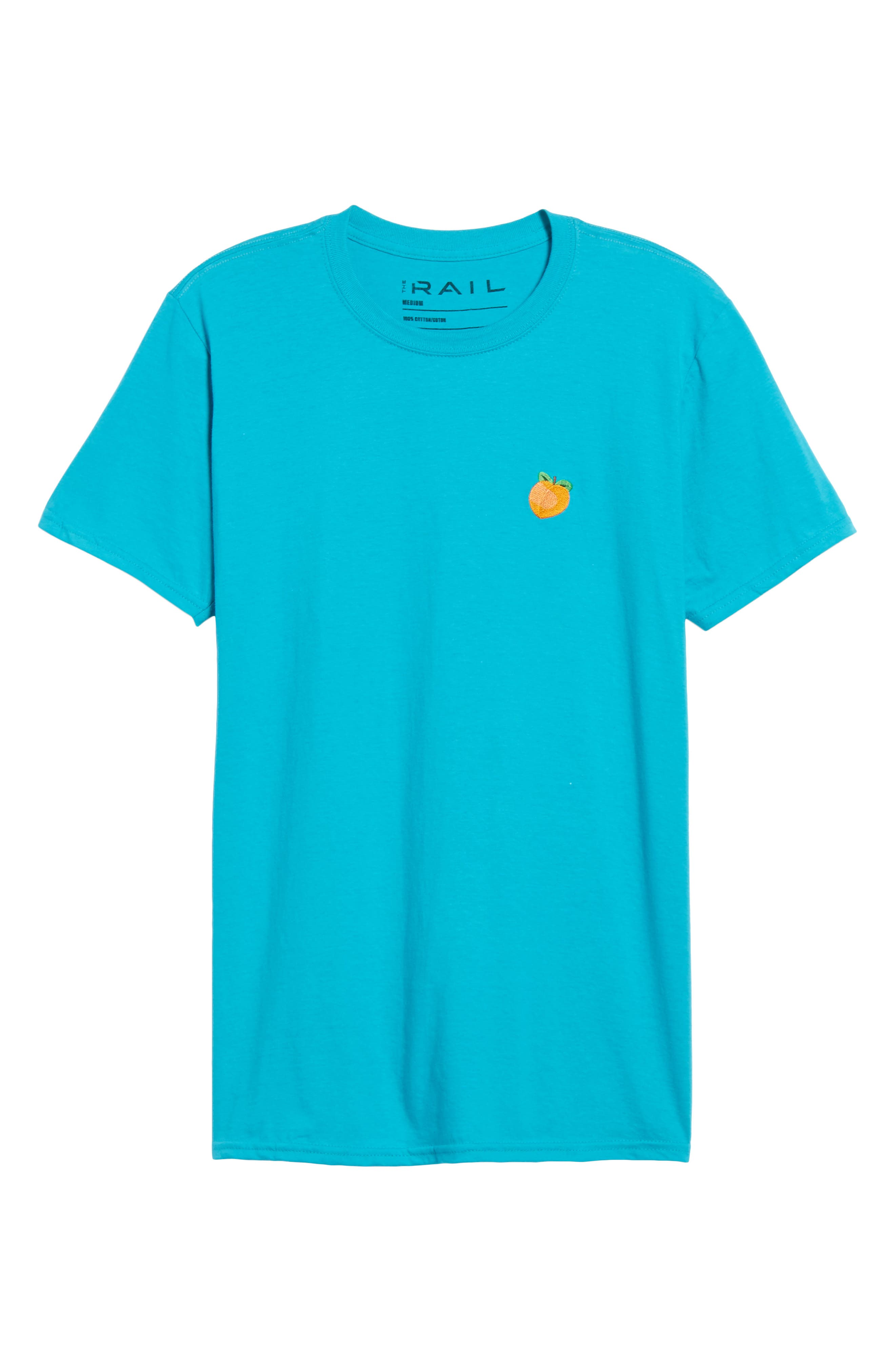 Alternate Image 6  - The Rail Embroidered Peach T-Shirt