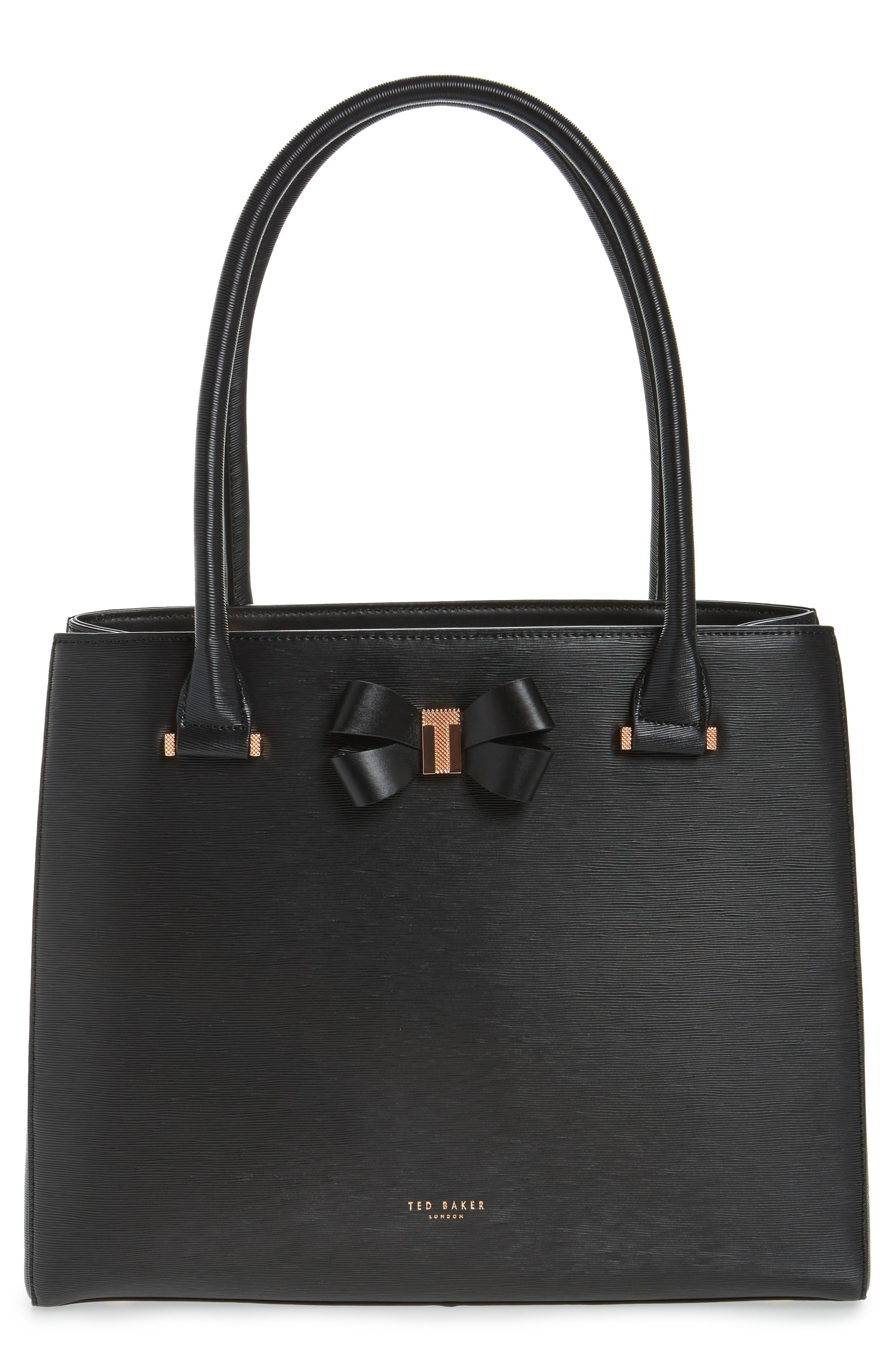 Alternate Image 1 Selected - Ted Baker London Callaa Bow Leather Shopper