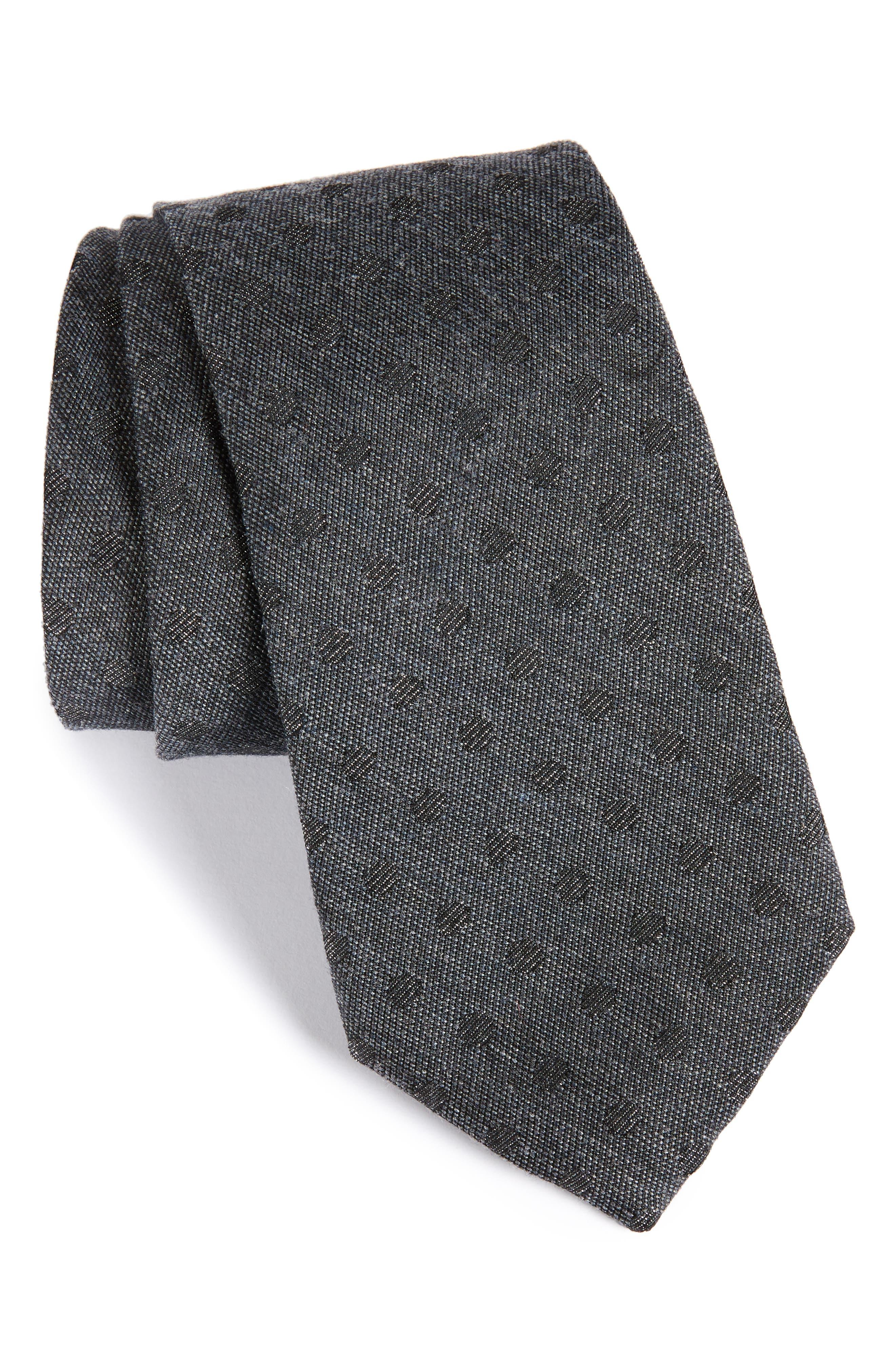 Lang Dot Tie,                             Main thumbnail 1, color,                             Black