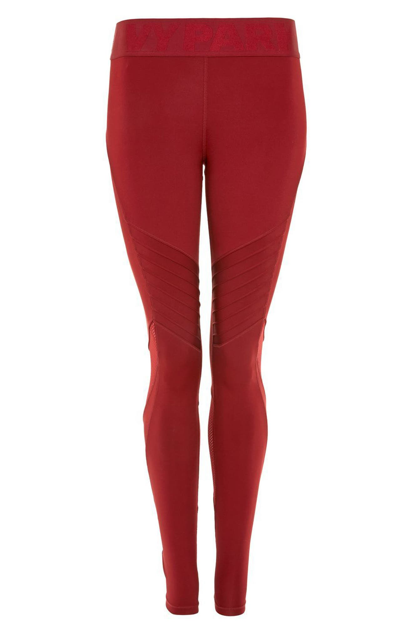 Pintuck Leggings,                             Alternate thumbnail 9, color,                             Russet