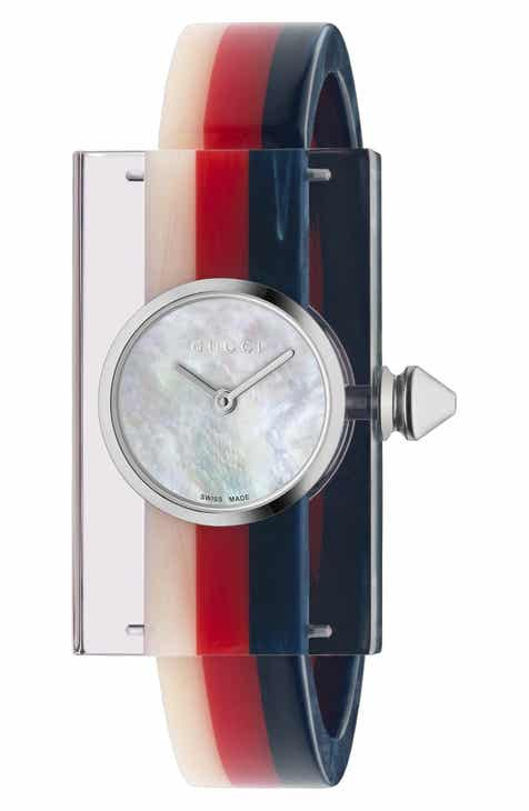 22b8bb3c61 Gucci Plexiglas Bracelet Watch