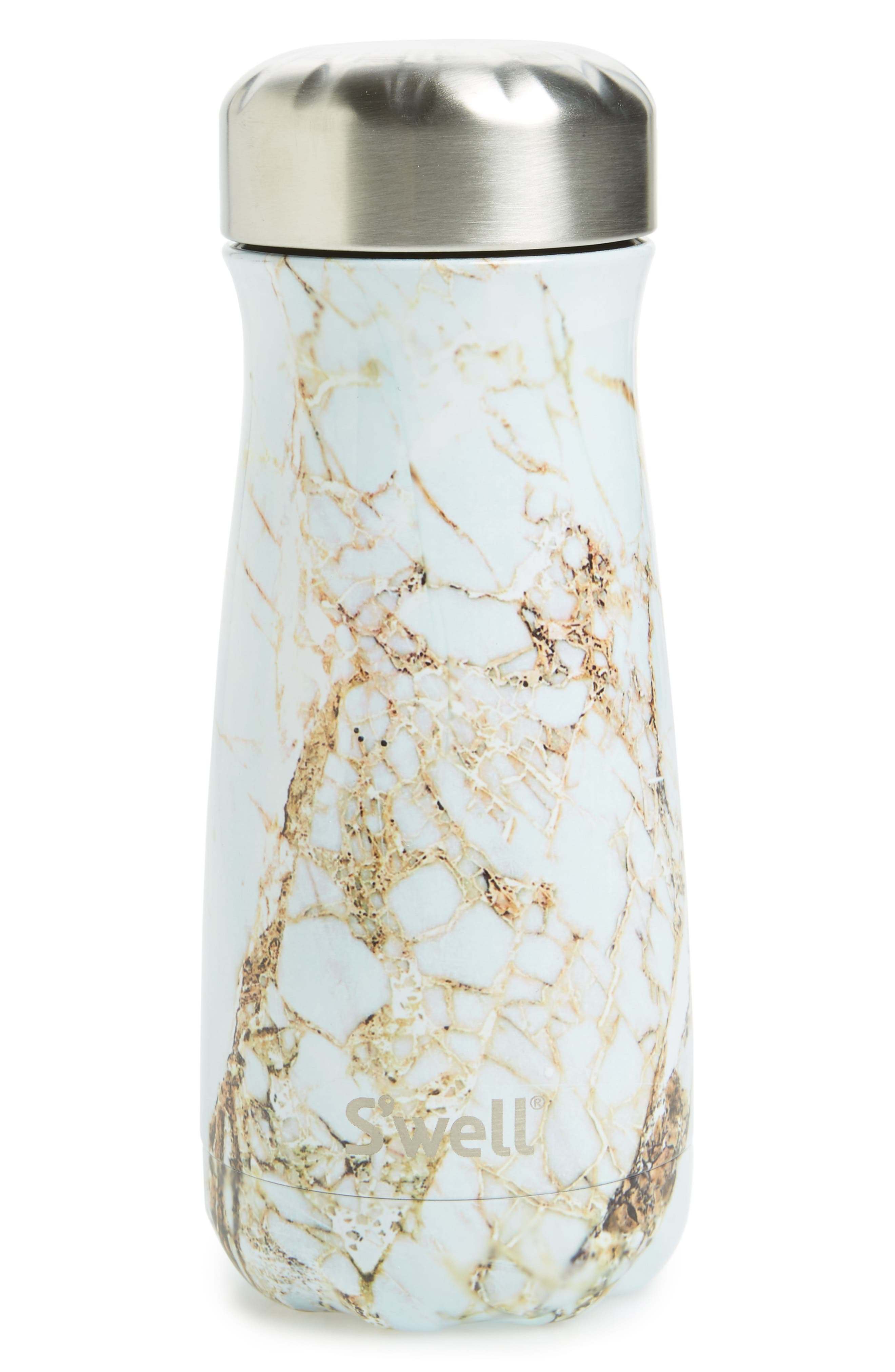 Traveler Calacatta Gold Insulated Stainless Steel Water Bottle,                         Main,                         color, Calcatta Gold