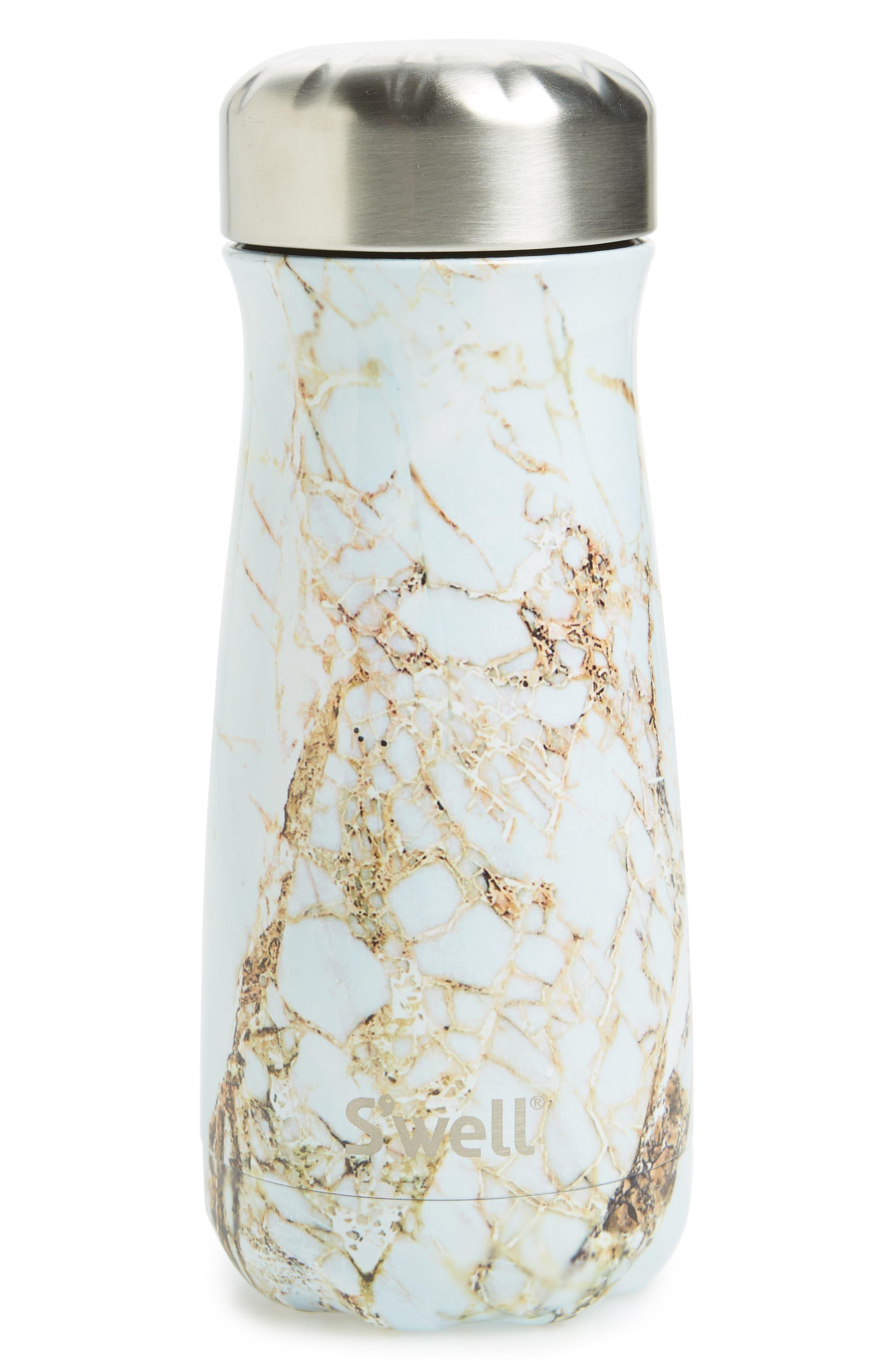 S'well Traveler Calcatta Gold Insulated Stainless Steel Water Bottle