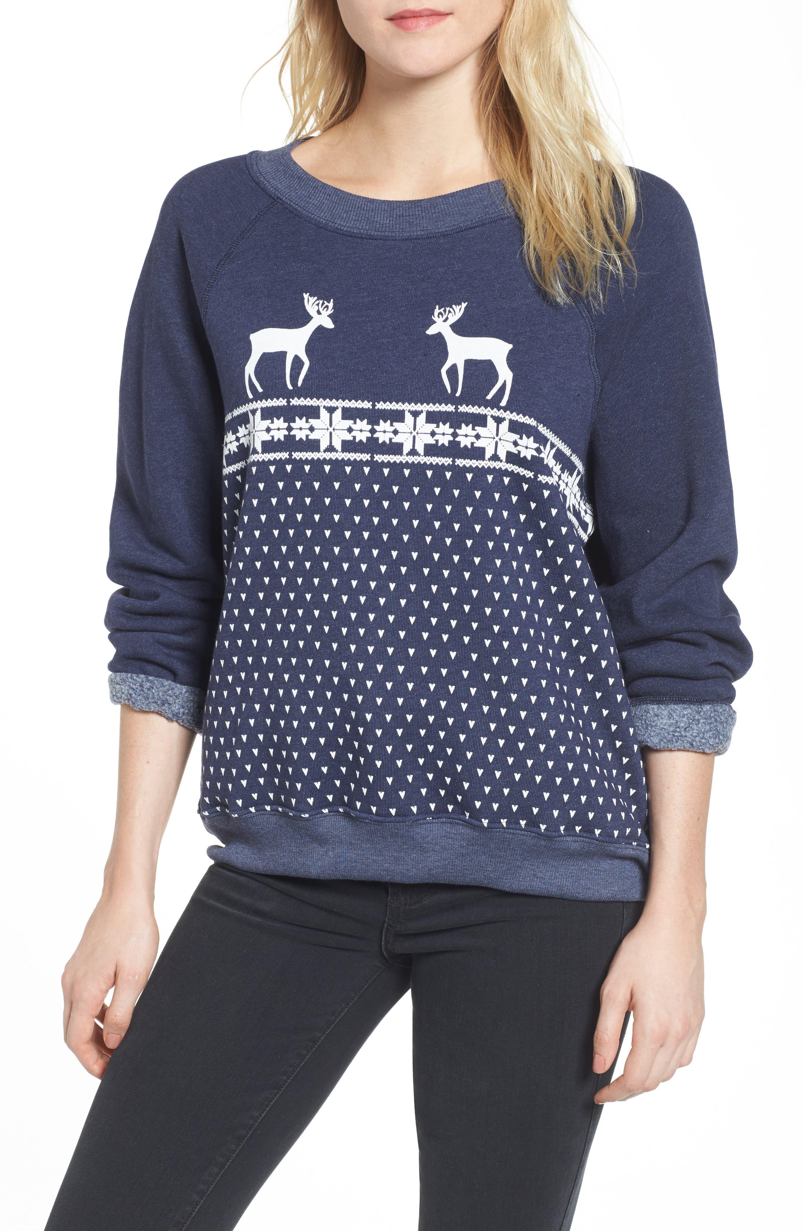 Wildfox Snow Deer Sweatshirt