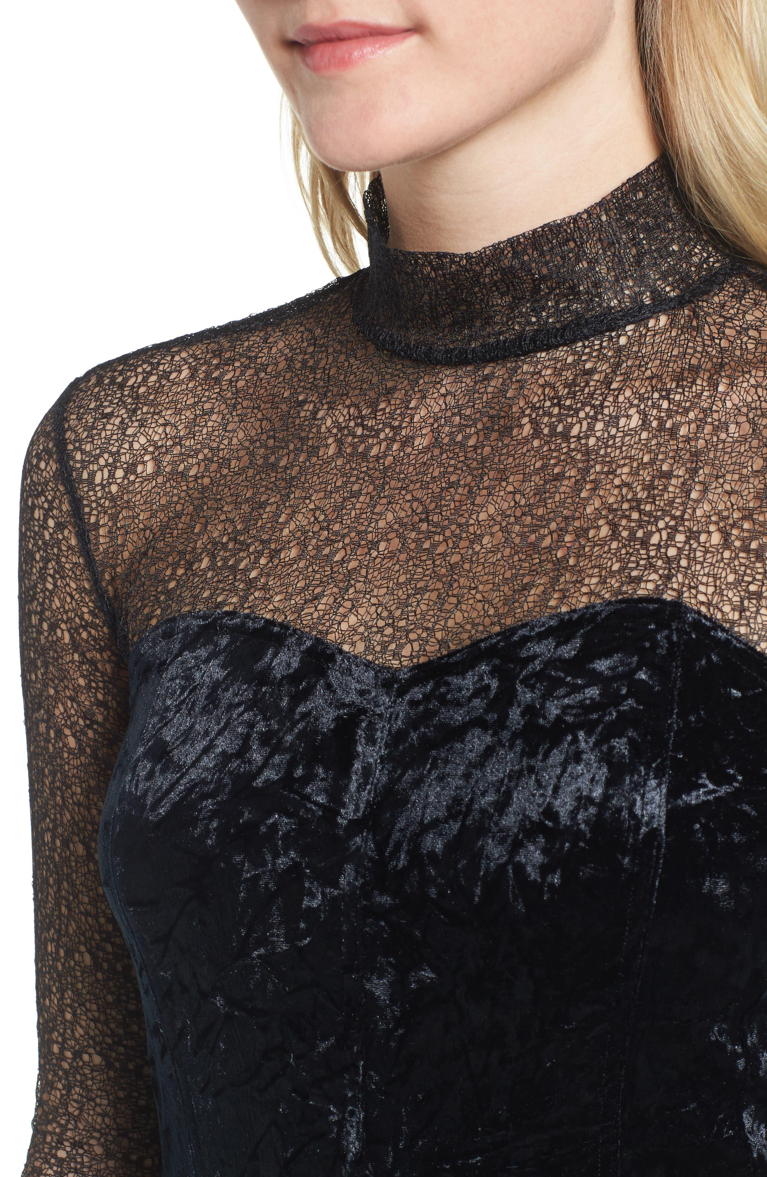Alternate Image 4  - Trouvé Lace & Velvet Top