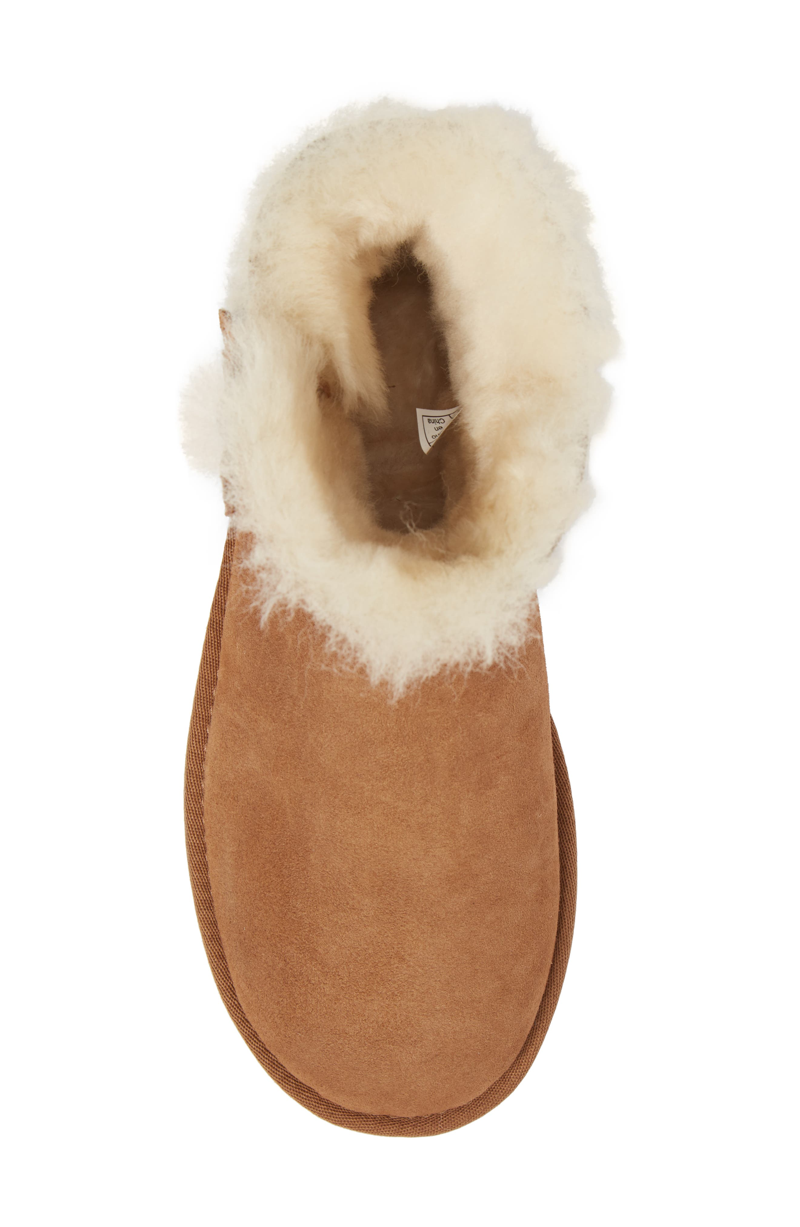 Alternate Image 5  - UGG® Mini Bailey Button Poppy Genuine Shearling Lined Boot (Women)