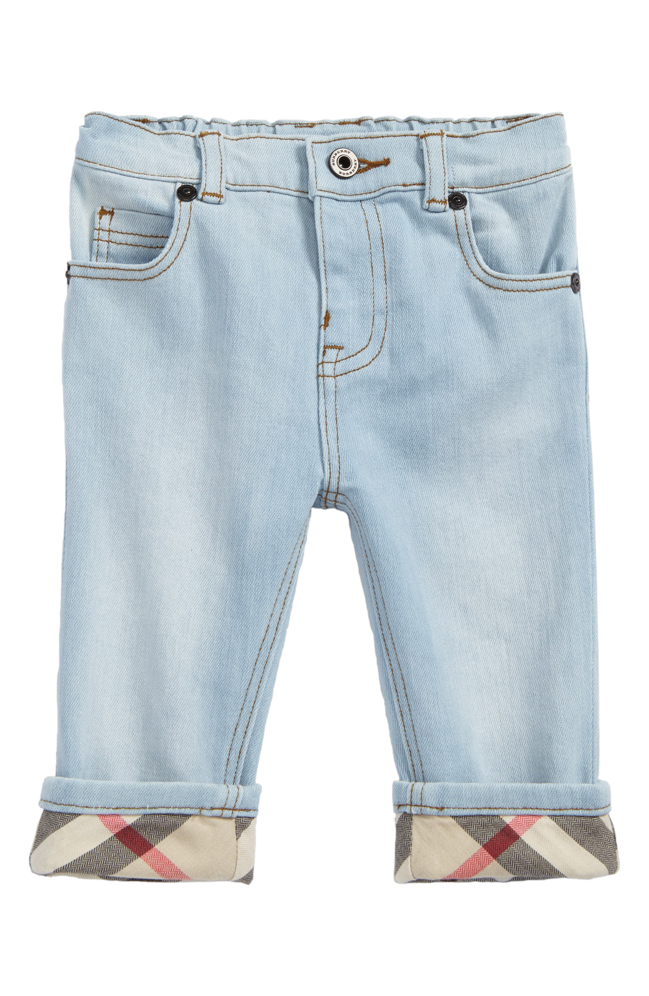 Burberry Check Cuff Relaxed Jeans (Baby Boys)