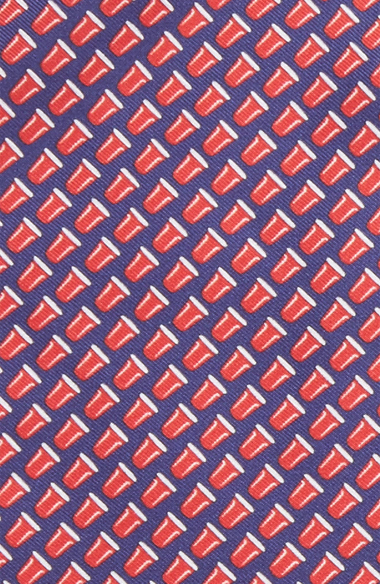 Re-Rack Silk Pocket Square,                             Alternate thumbnail 3, color,                             Navy