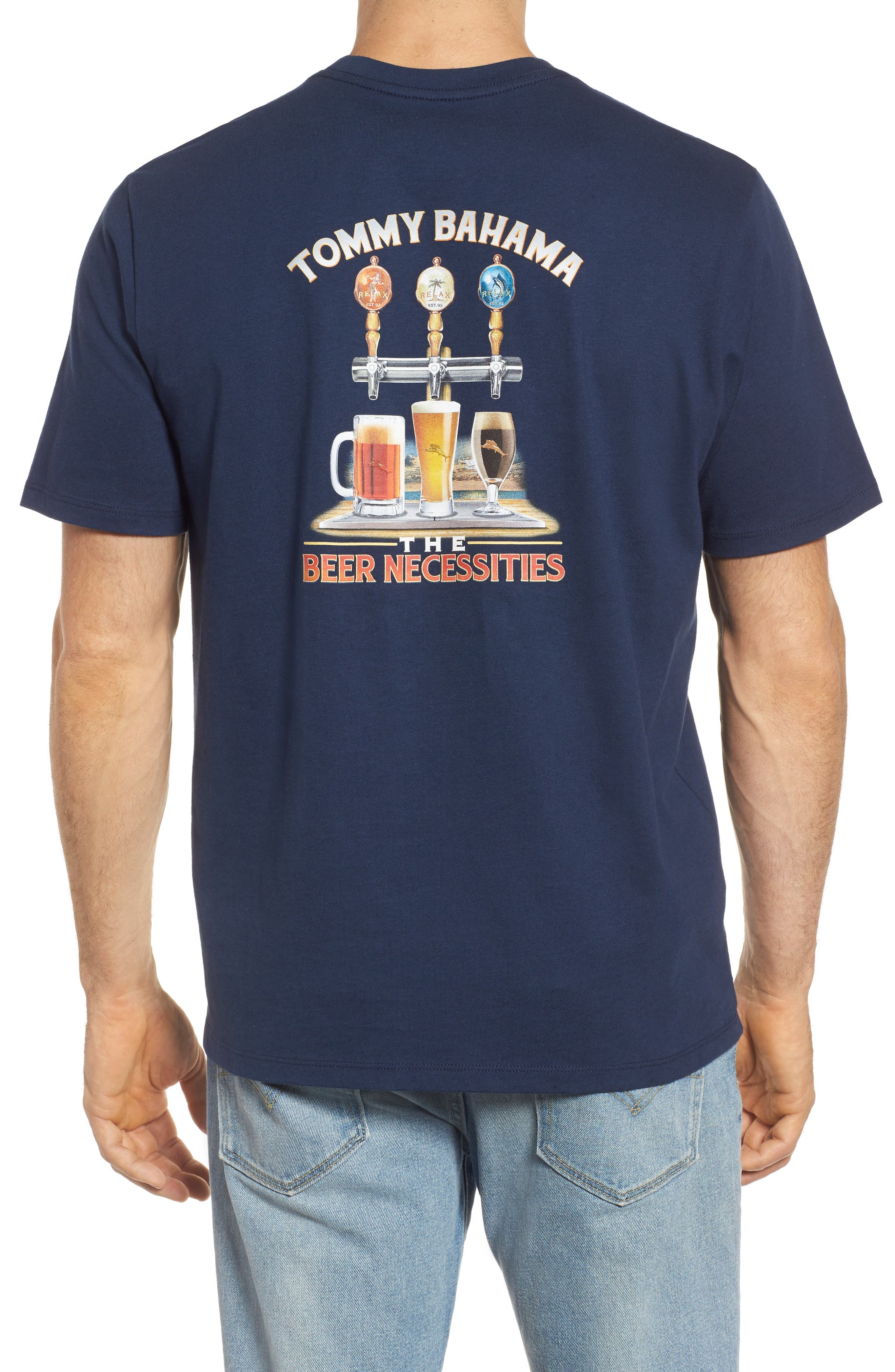 Beer Necessities Graphic T-Shirt,                             Main thumbnail 1, color,                             Navy