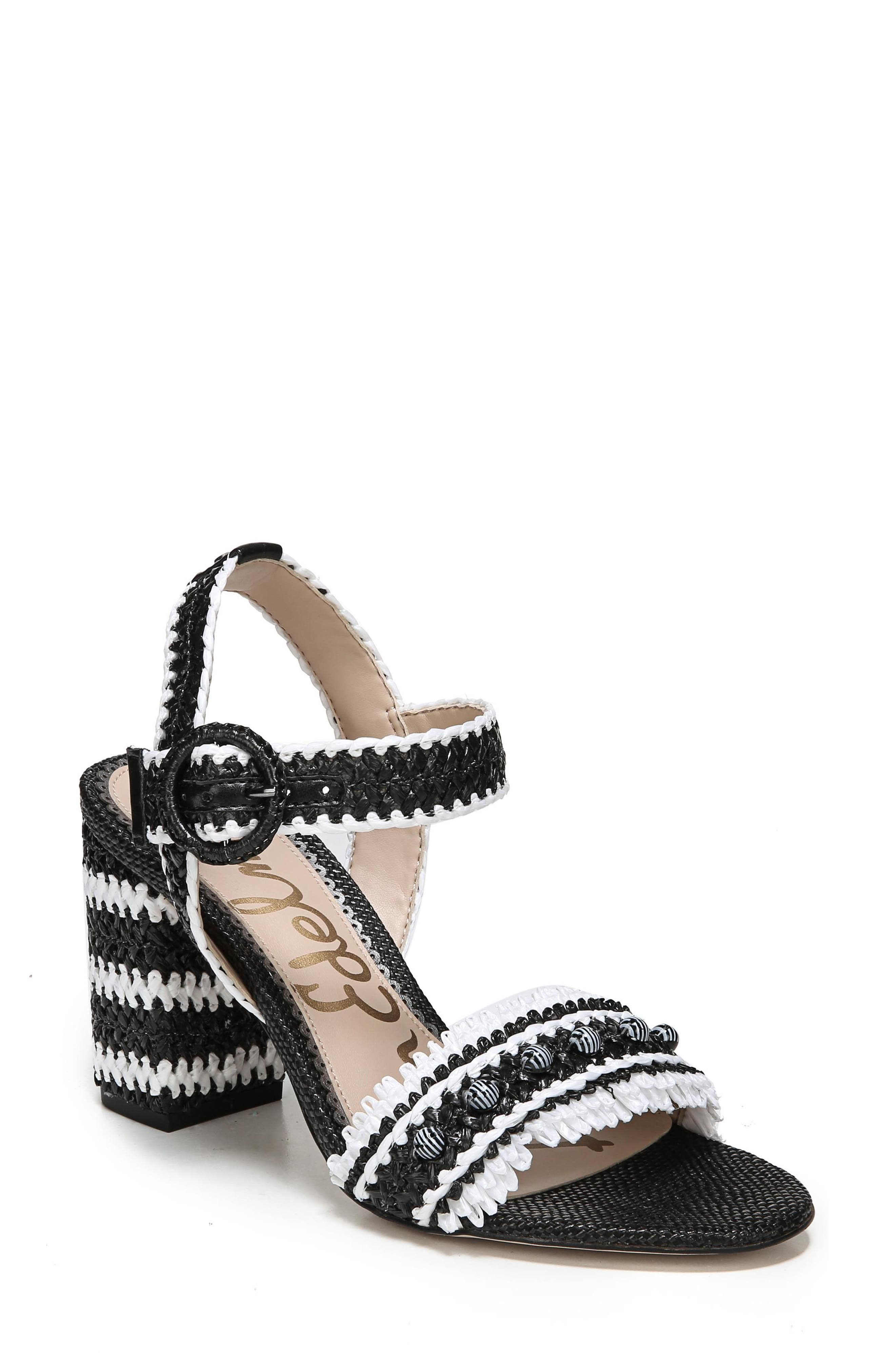 0a488c330ba4 Sam Edelman Women S Olisa Raffia Block Heel Sandals In Black