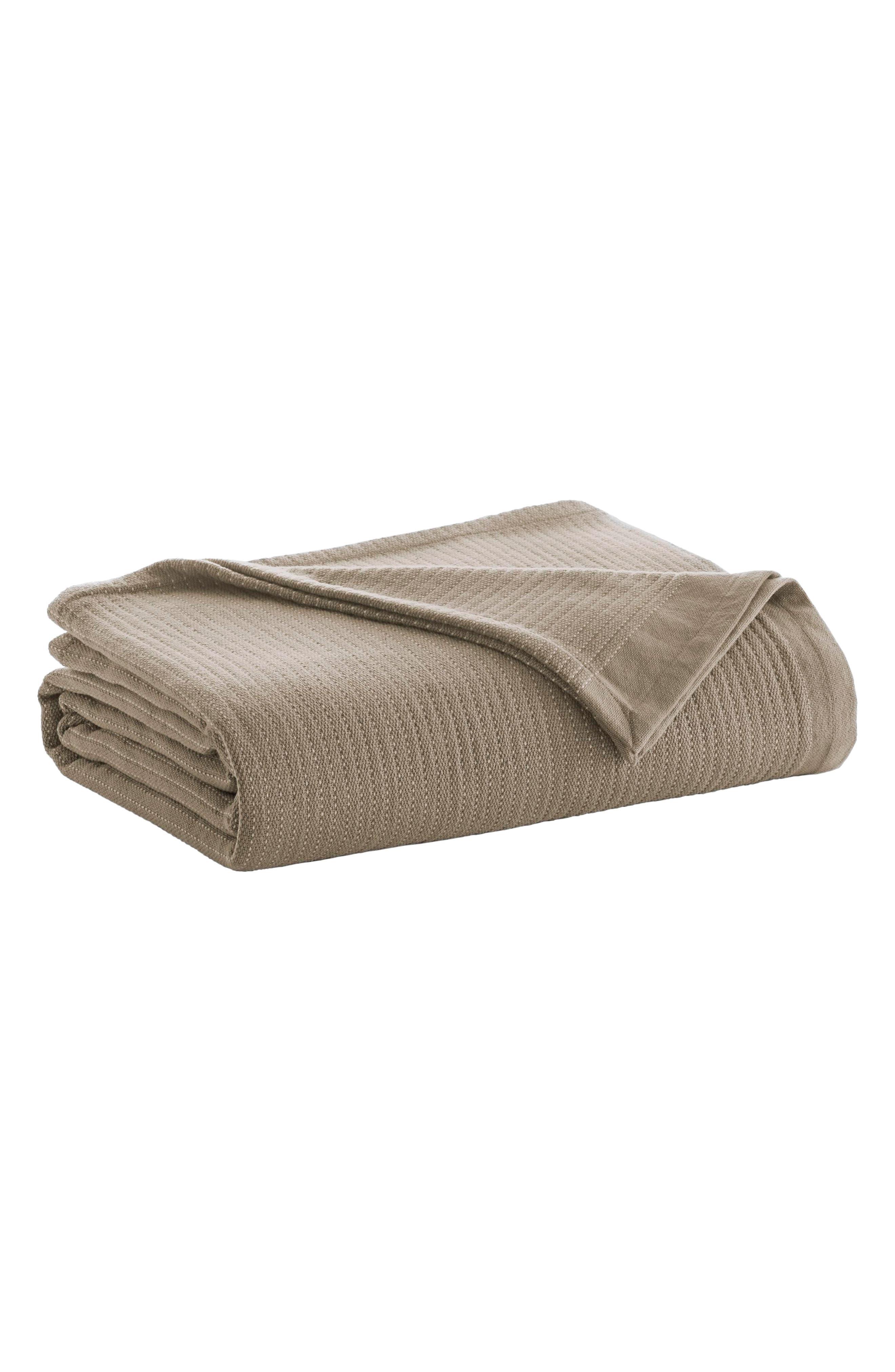 Stripe Blanket,                             Main thumbnail 1, color,                             Camel/ Ivory