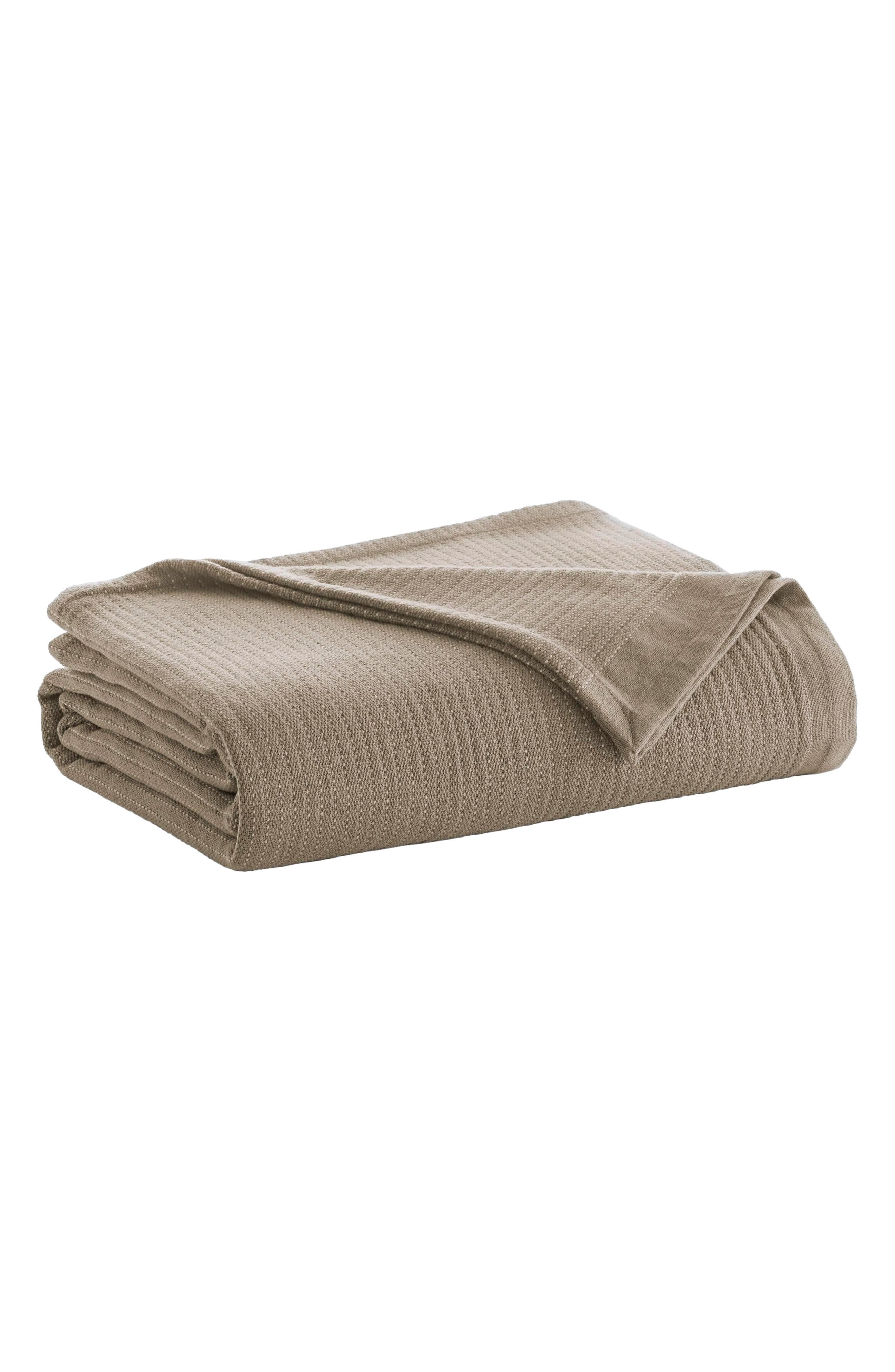 Stripe Blanket,                         Main,                         color, Camel/ Ivory