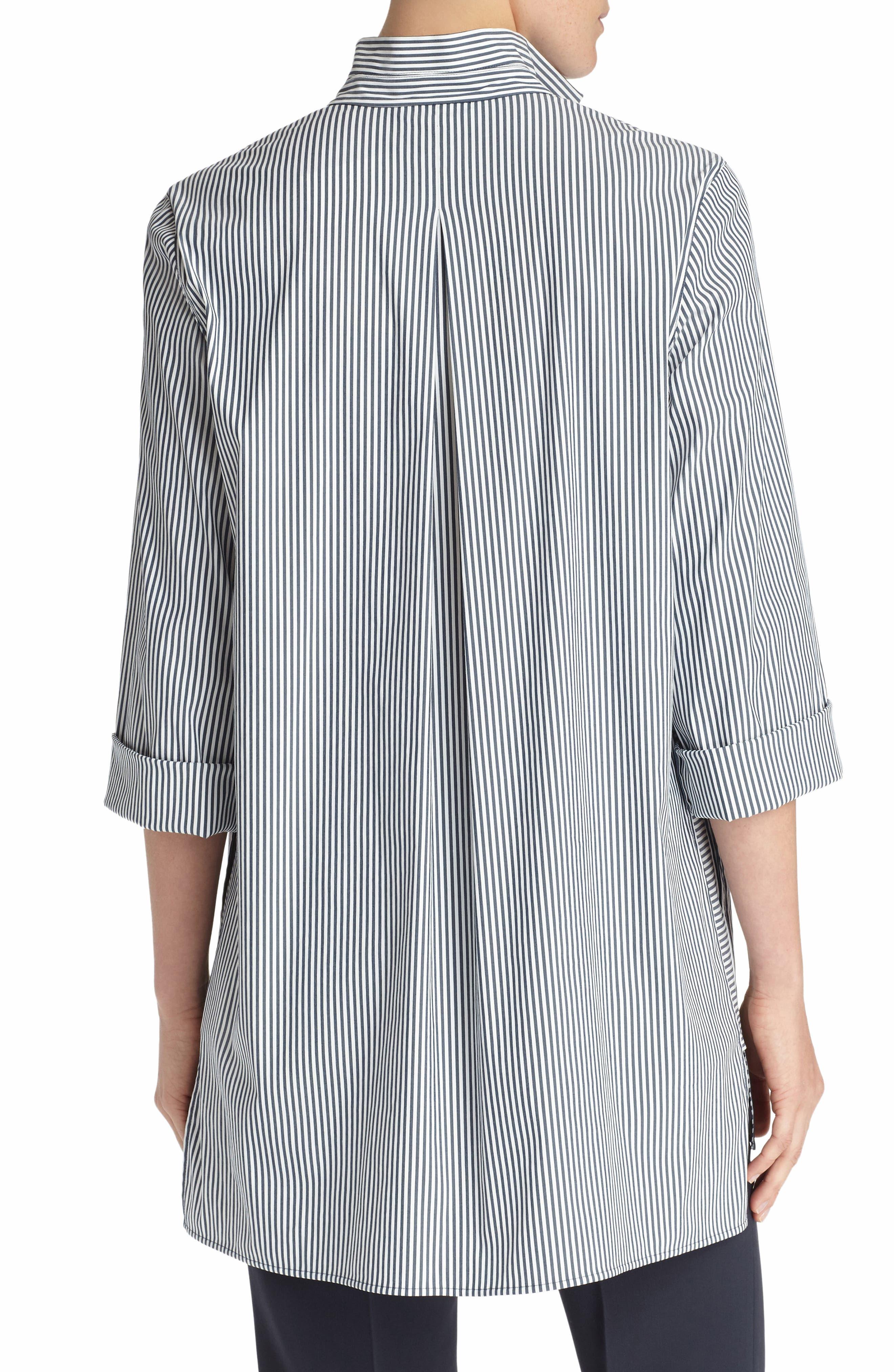 Desirae Freeport Stripe Shirting Blouse,                             Alternate thumbnail 2, color,                             Admiral Blue Multi