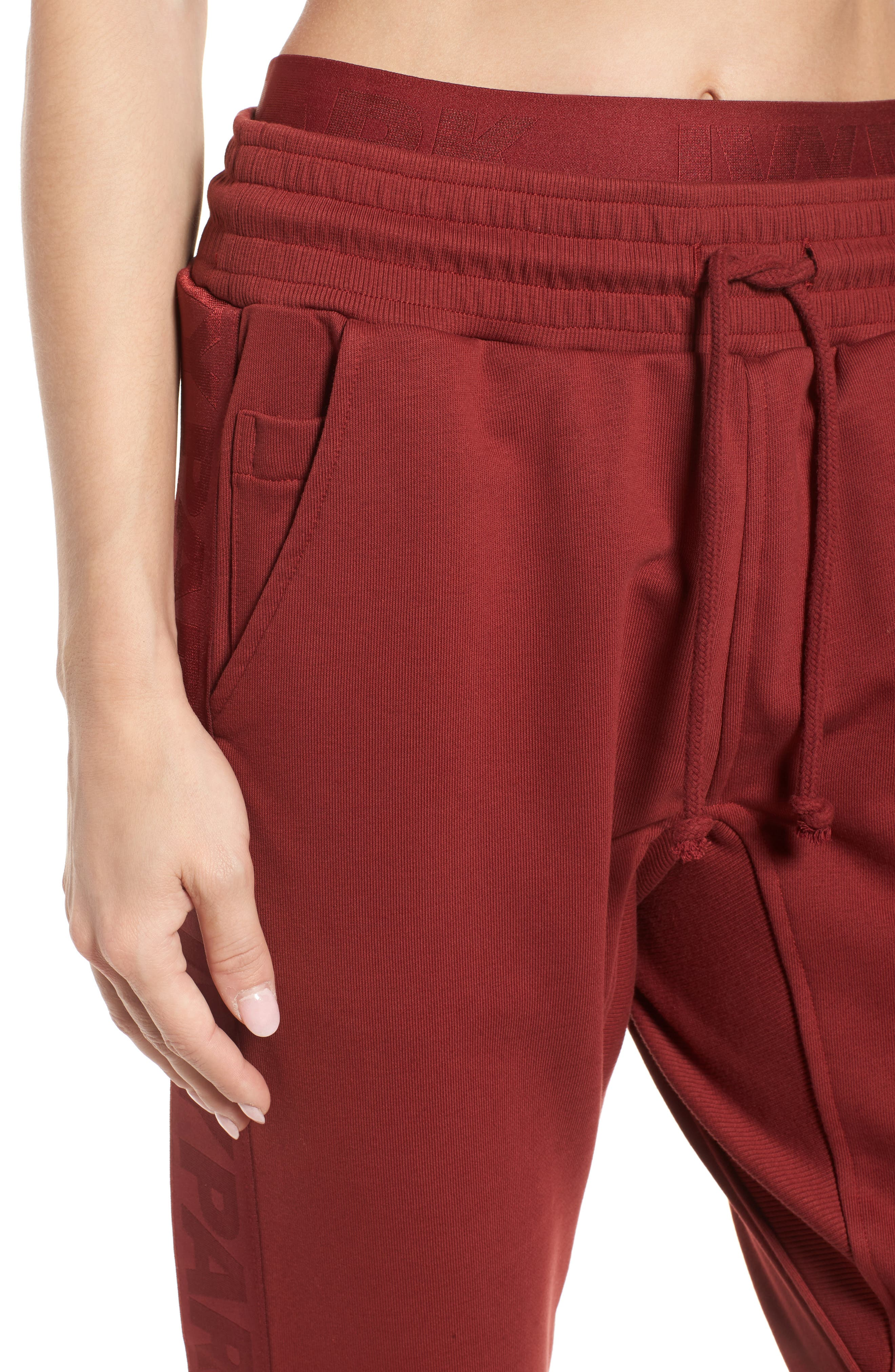 Logo Elastic Jogger Pants,                             Alternate thumbnail 4, color,                             Russet