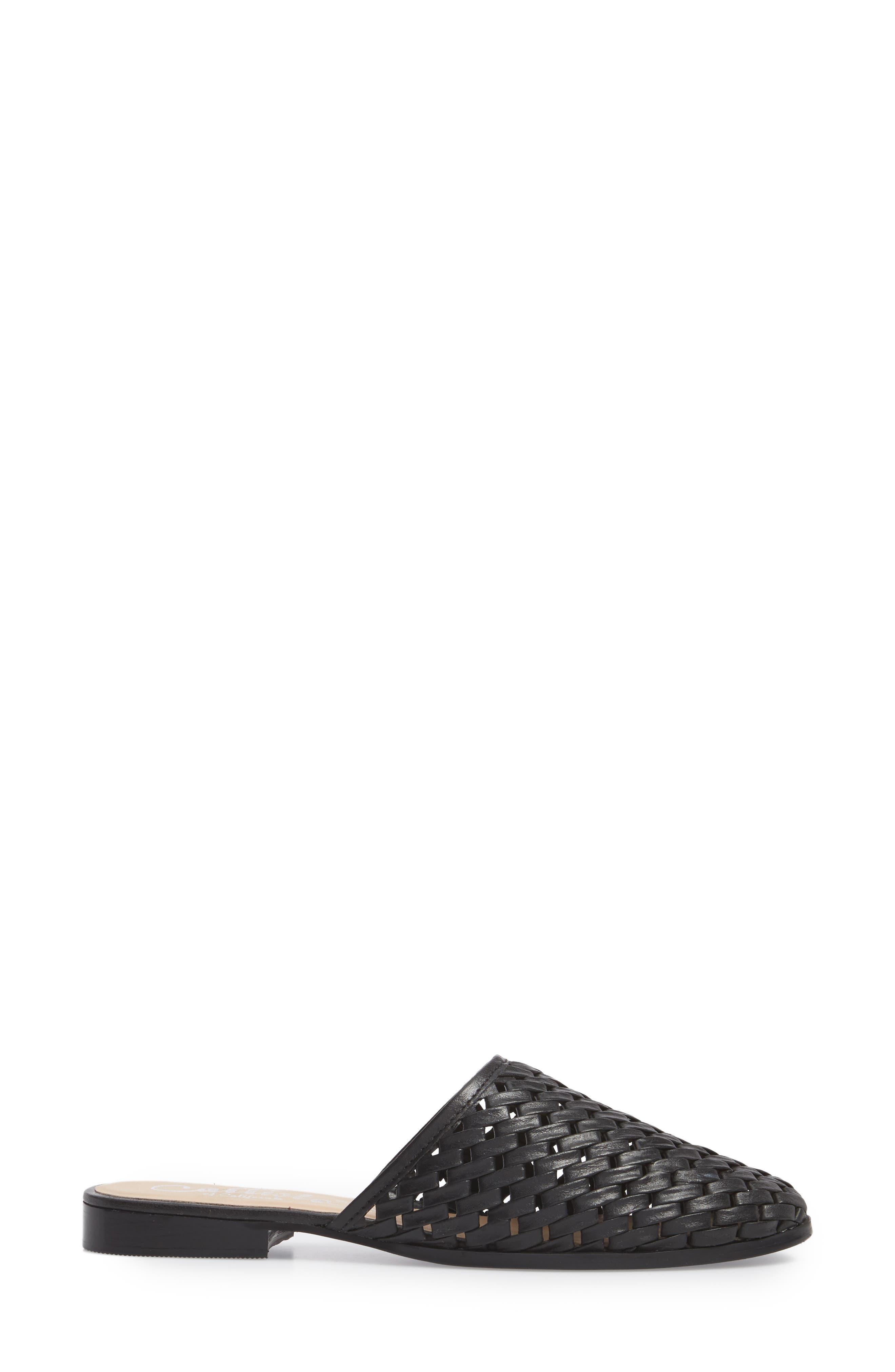 Fenix Mule,                             Alternate thumbnail 3, color,                             Black Leather