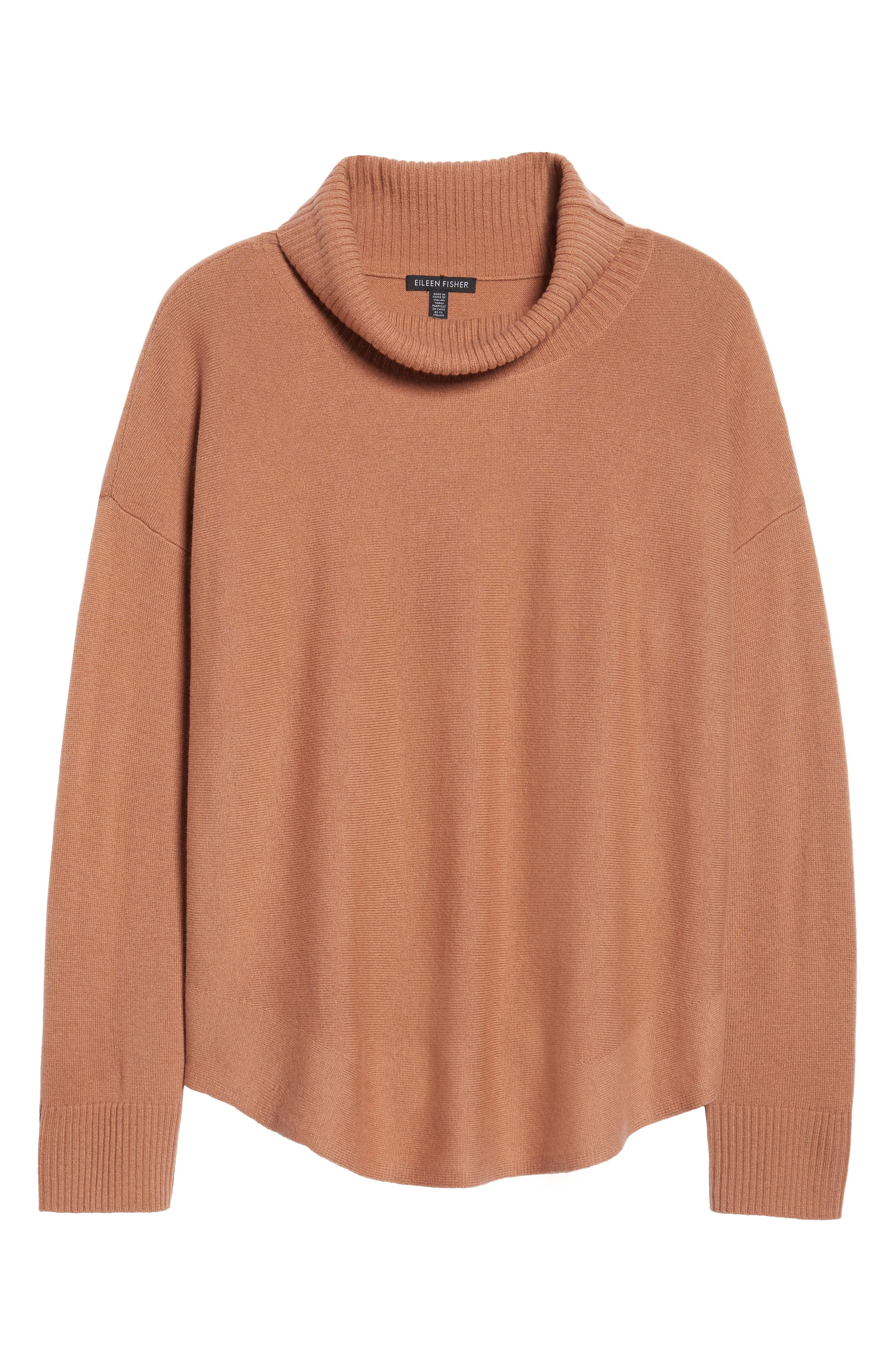 EileenFisher Draped TurtleneckSweater,                         Main,                         color, Aztec