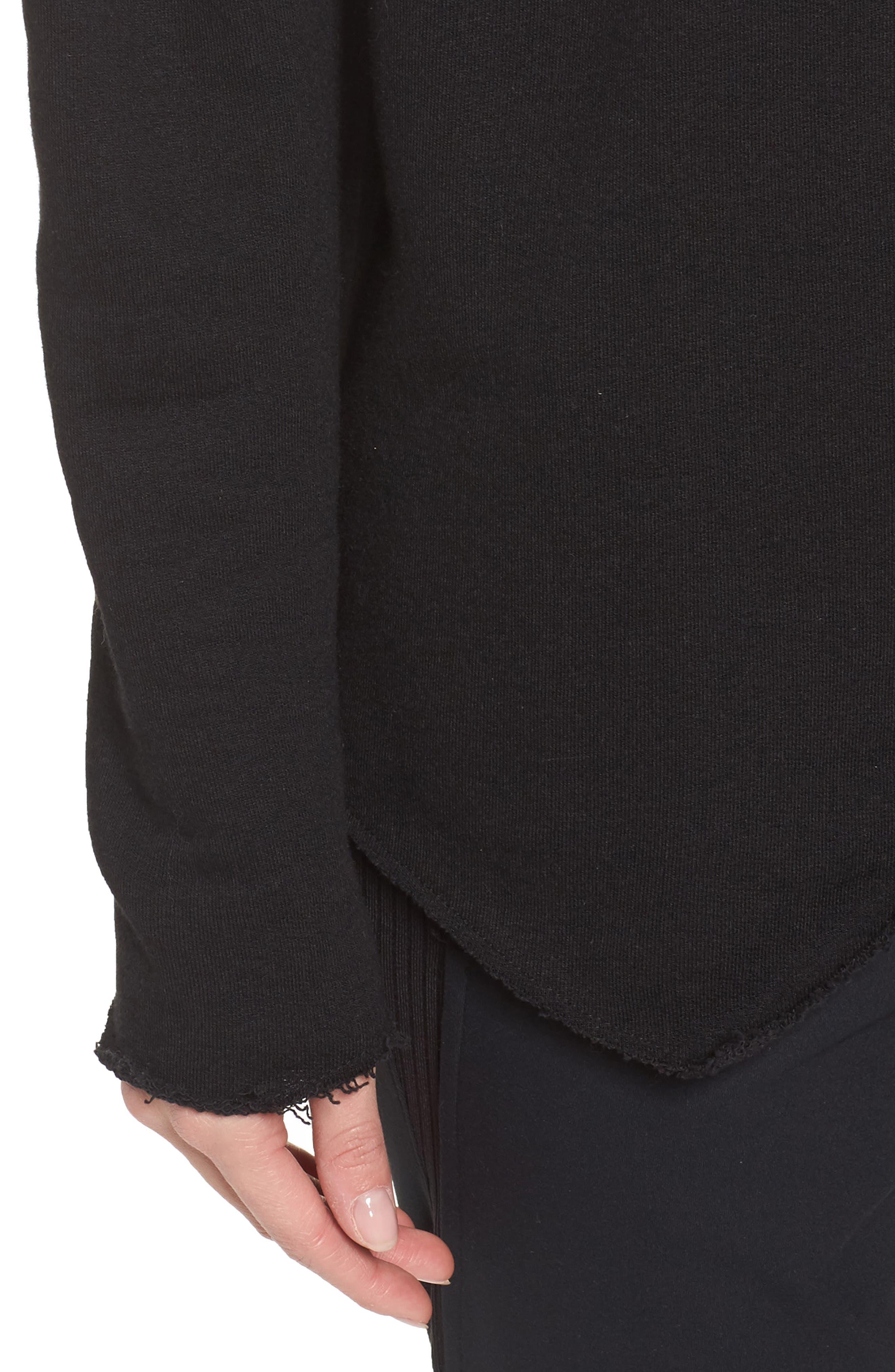 Exhale Sweatshirt,                             Alternate thumbnail 4, color,                             Black