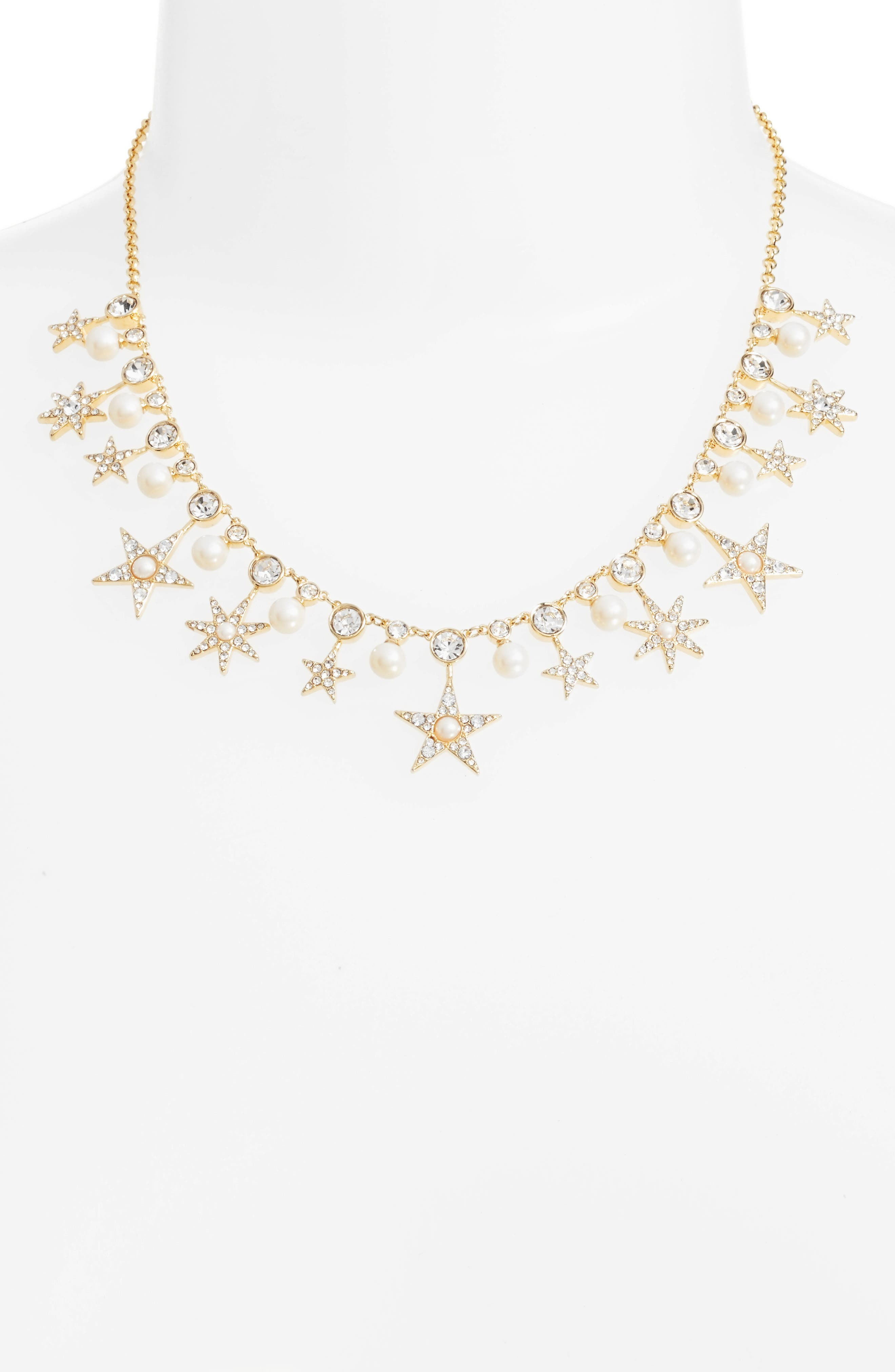 seeing stars collar necklace,                         Main,                         color, Gold