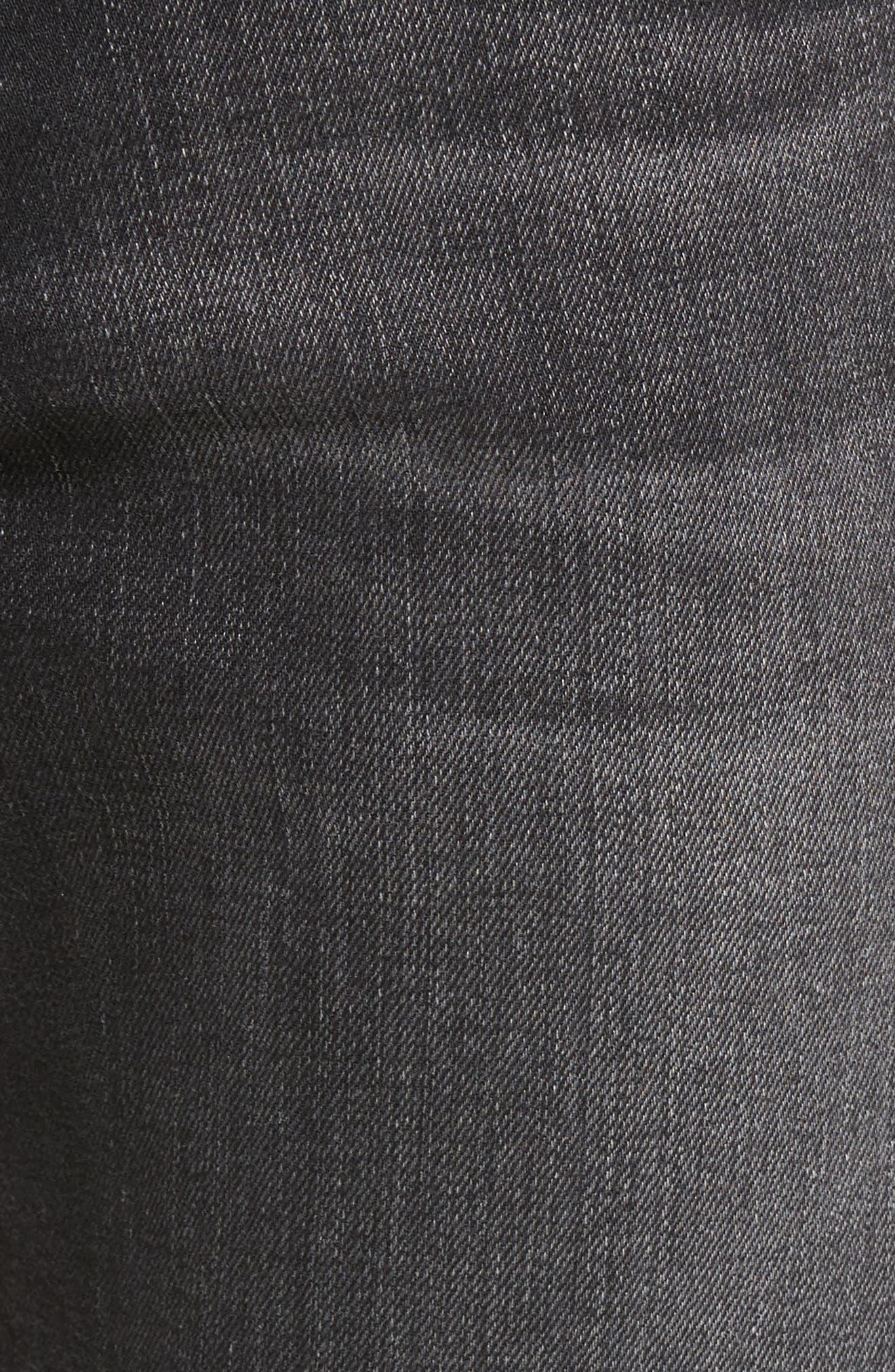 Tellis Modern Slim Fit Jeans,                             Alternate thumbnail 5, color,                             Smudged Black