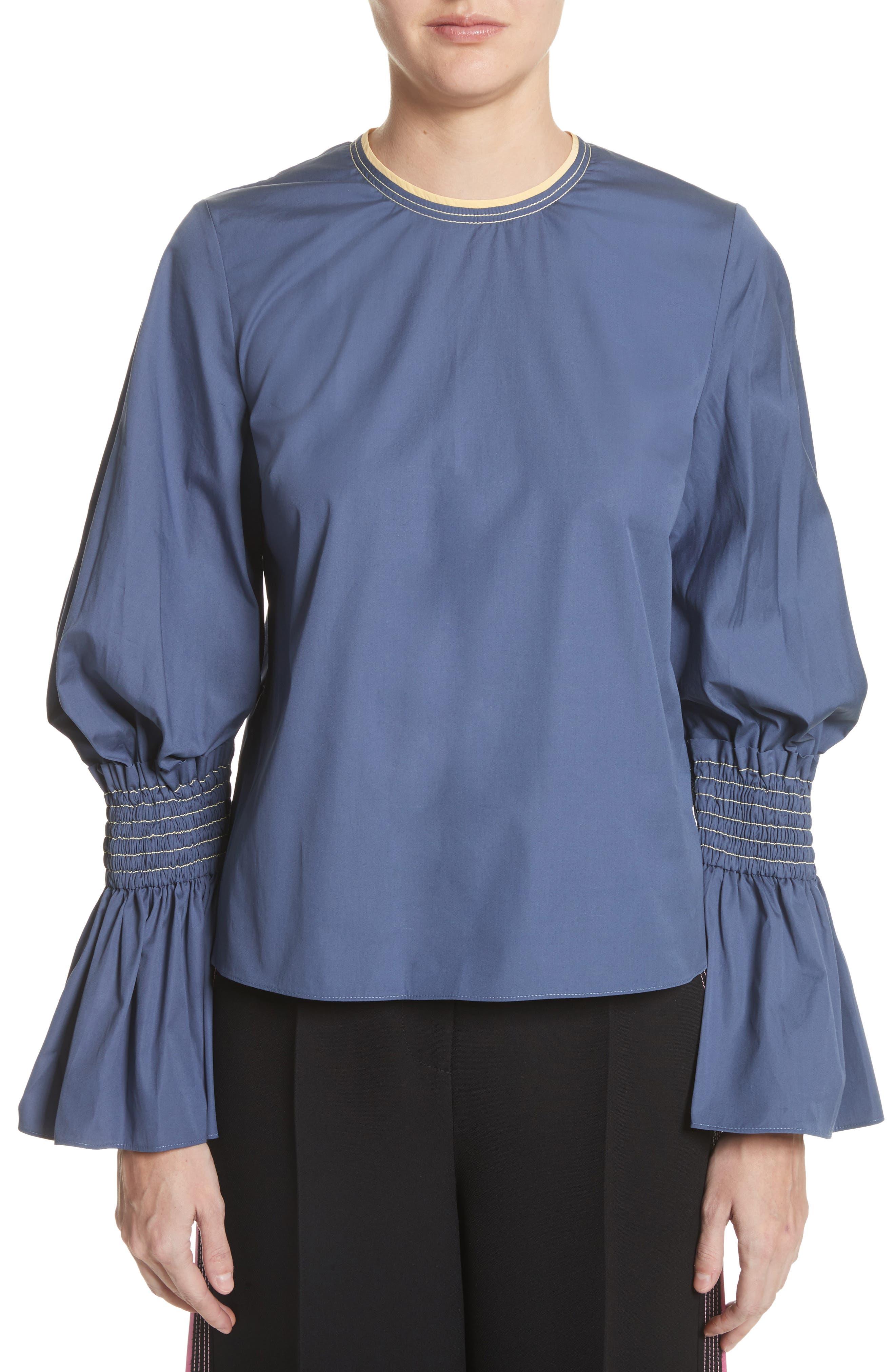 Kalila Top,                             Main thumbnail 1, color,                             French Blue / Sorbet
