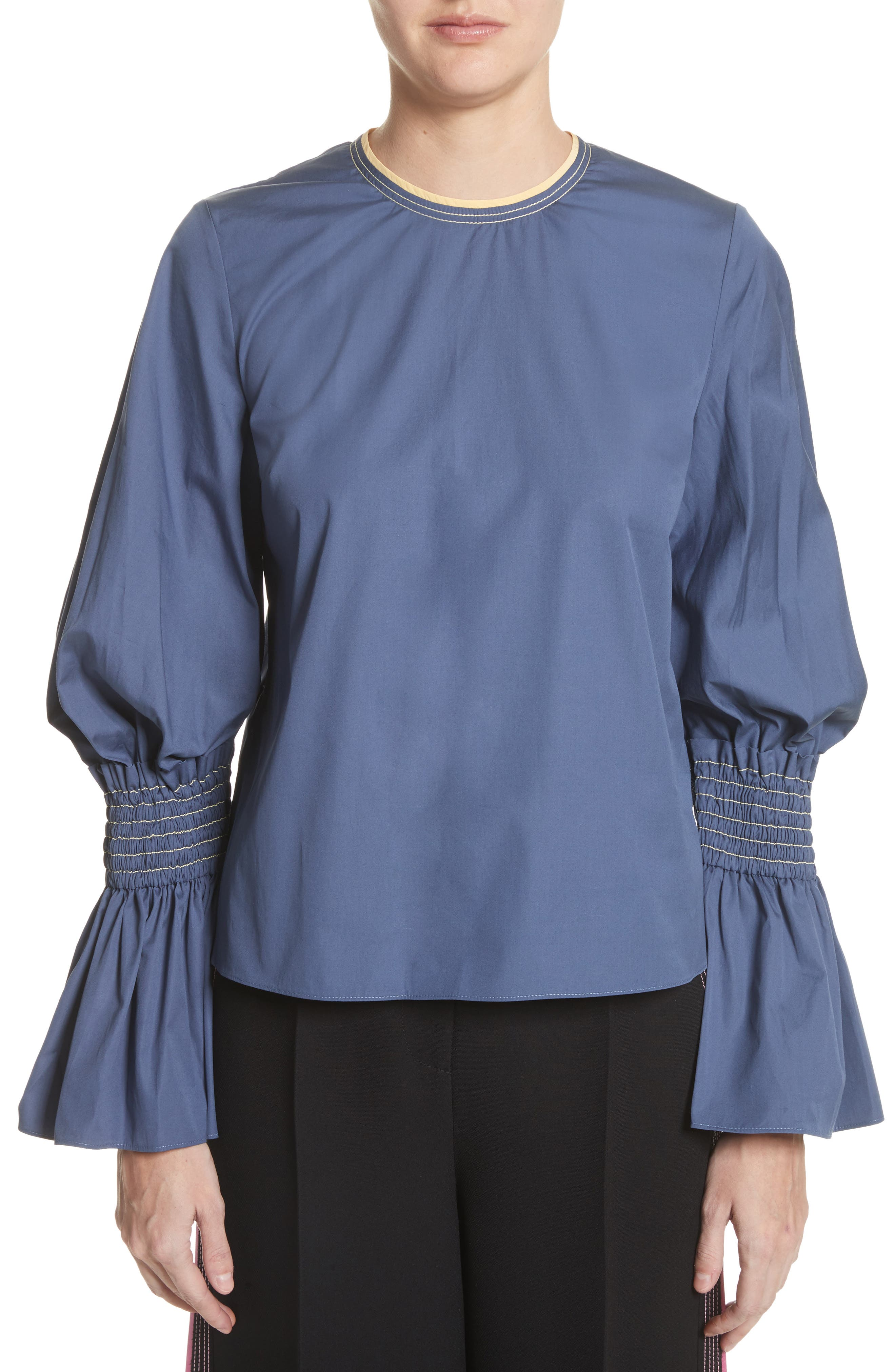 Kalila Top,                         Main,                         color, French Blue / Sorbet