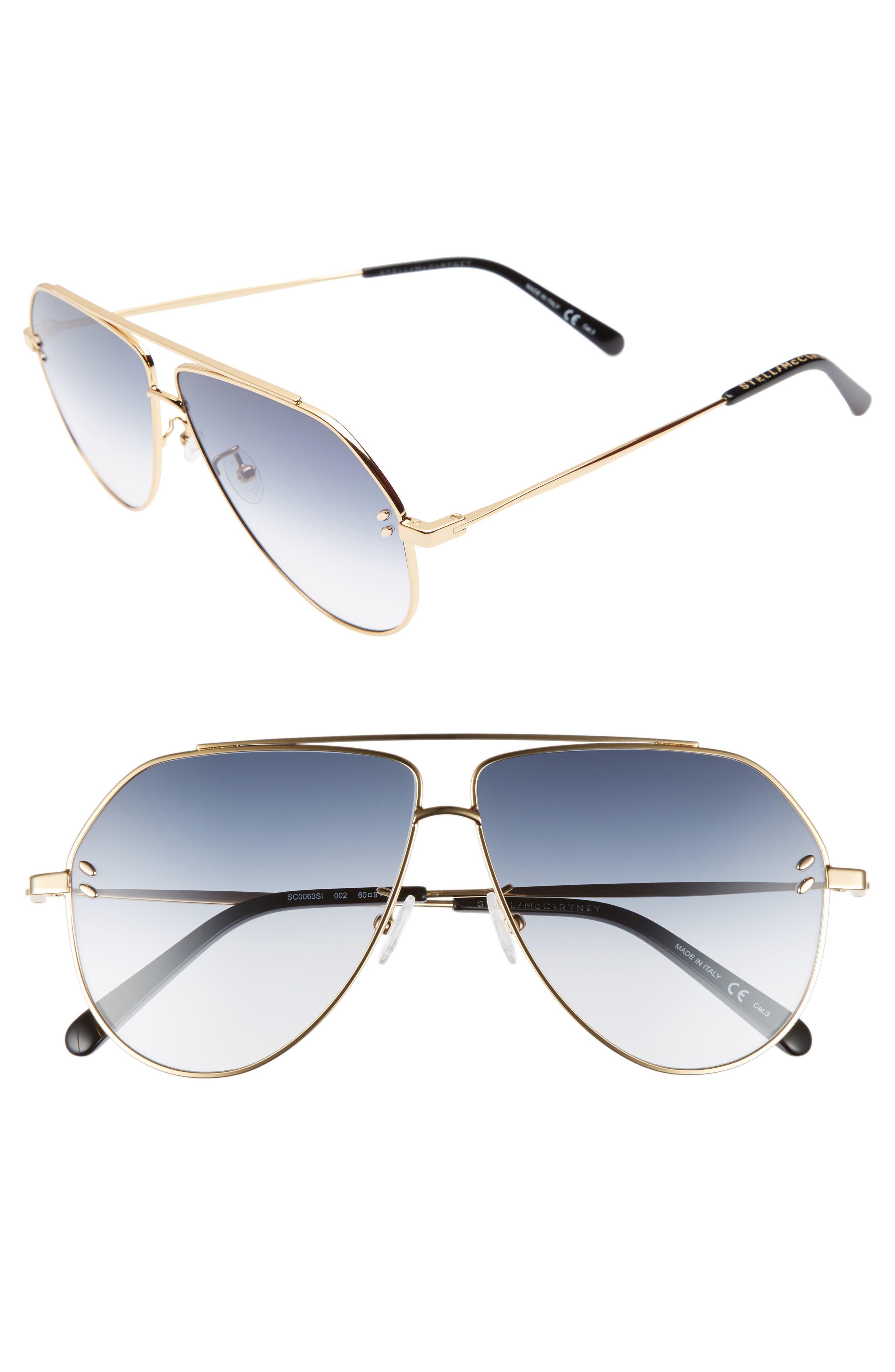 Main Image - Stella McCartney 60mm Aviator Sunglasses