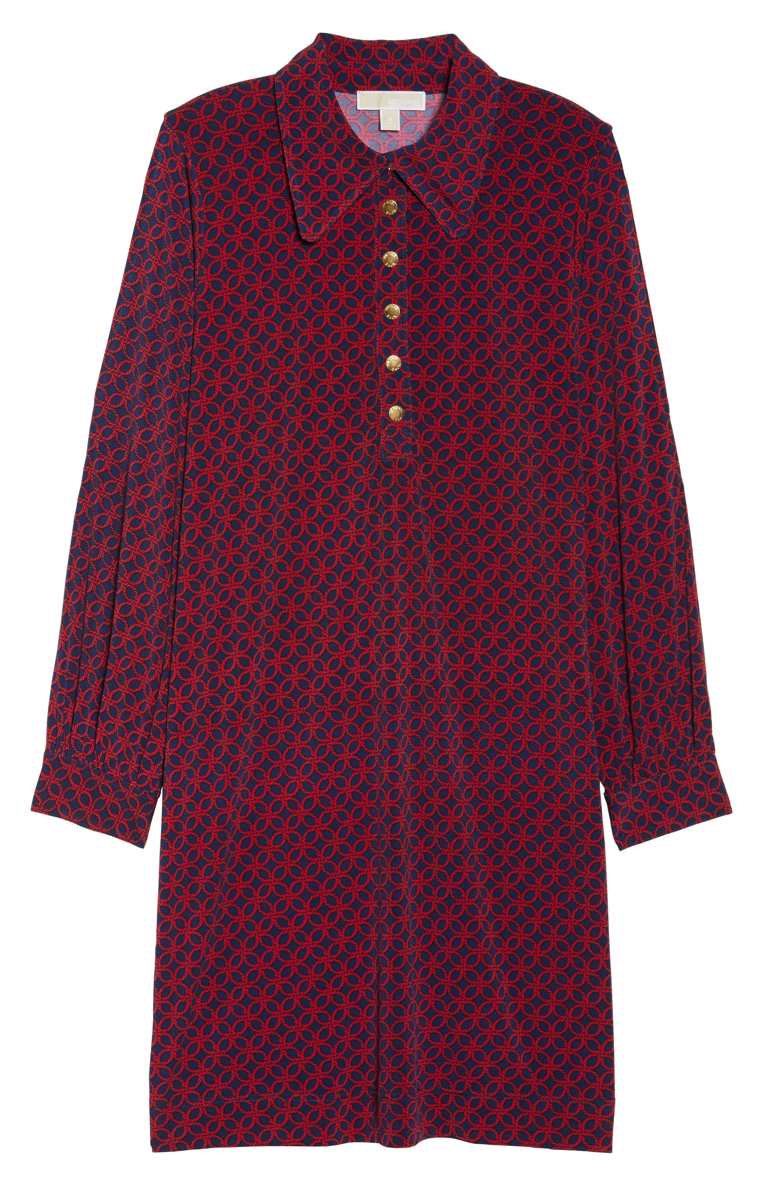 Alternate Image 6  - MICHAEL Michael Kors Geo Rope Print Shirtdress (Plus Size)