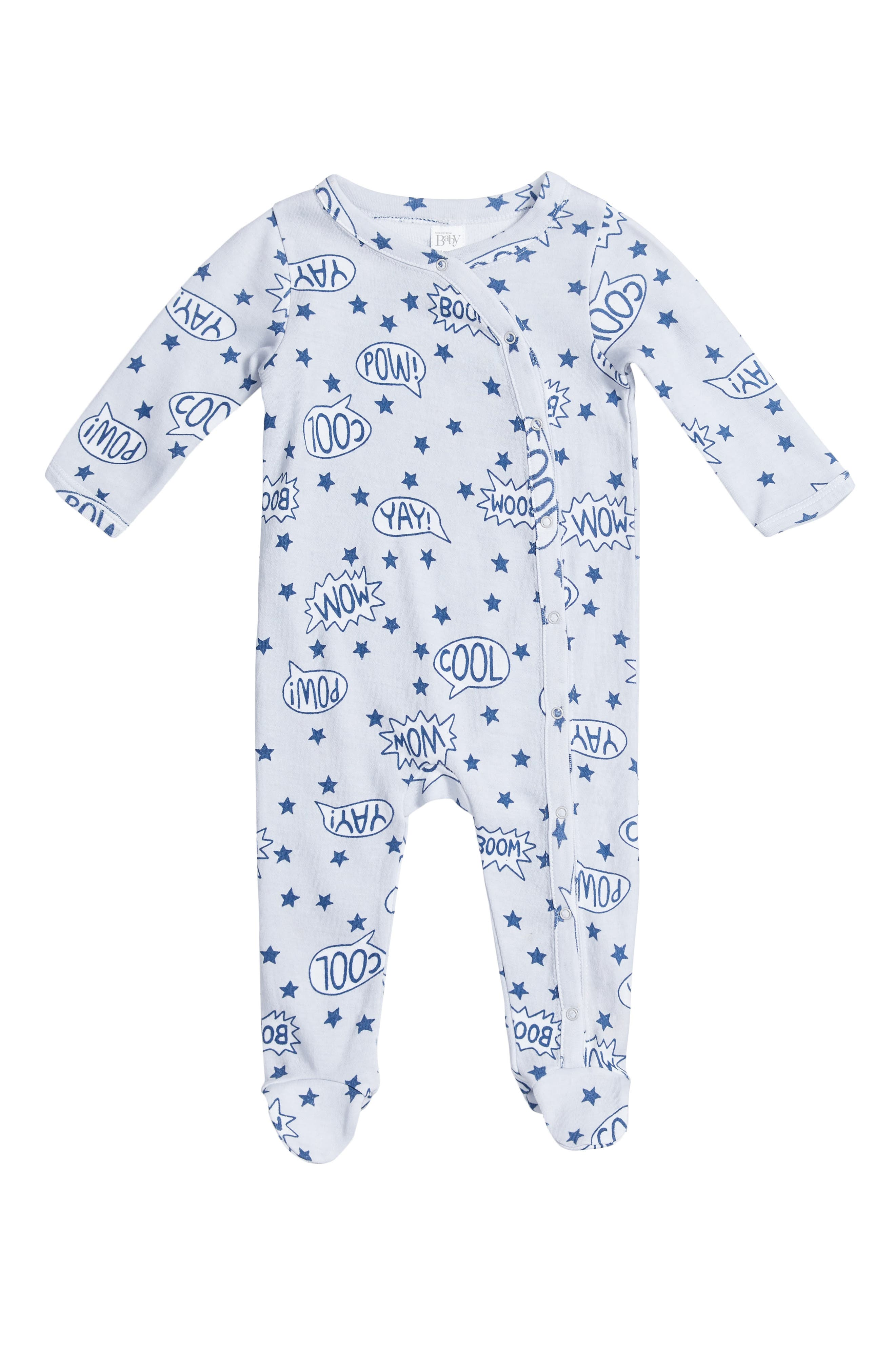 Alternate Image 1 Selected - Nordstrom Baby Print Footie (Baby)