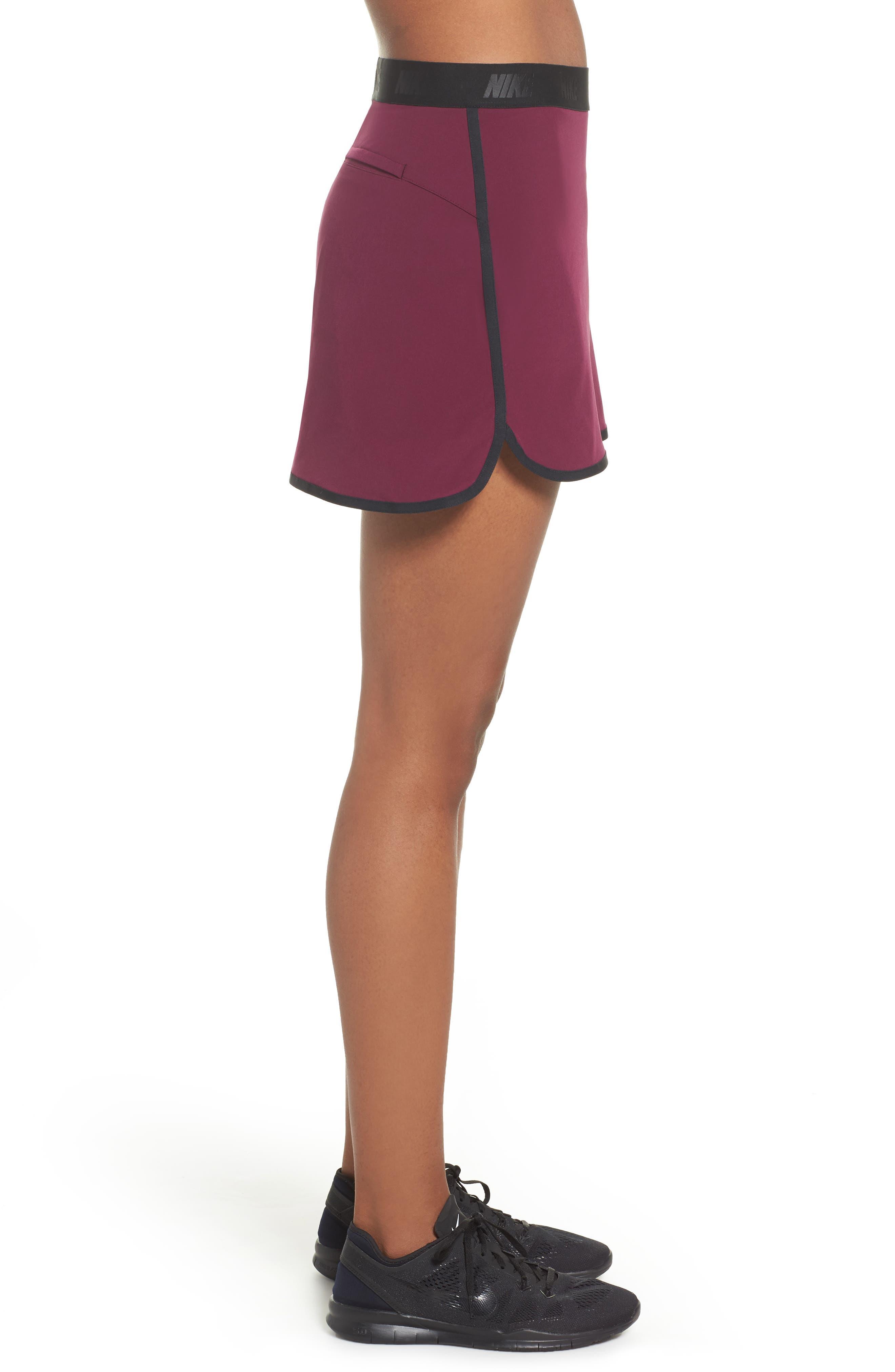 Flex Tennis Skirt,                             Alternate thumbnail 3, color,                             Burgundy