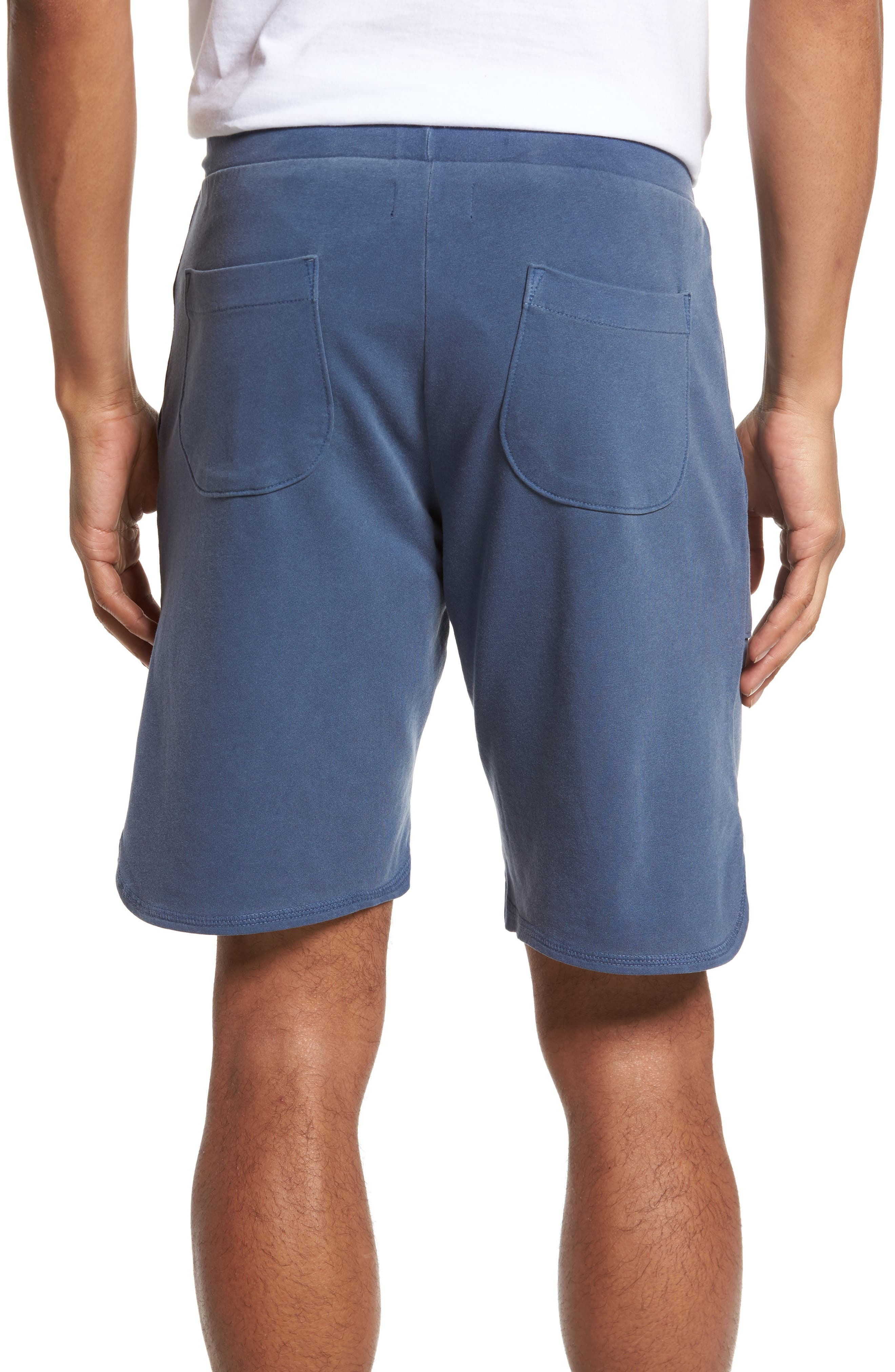 Terrycloth Scallop Shorts,                             Alternate thumbnail 2, color,                             Faded Navy