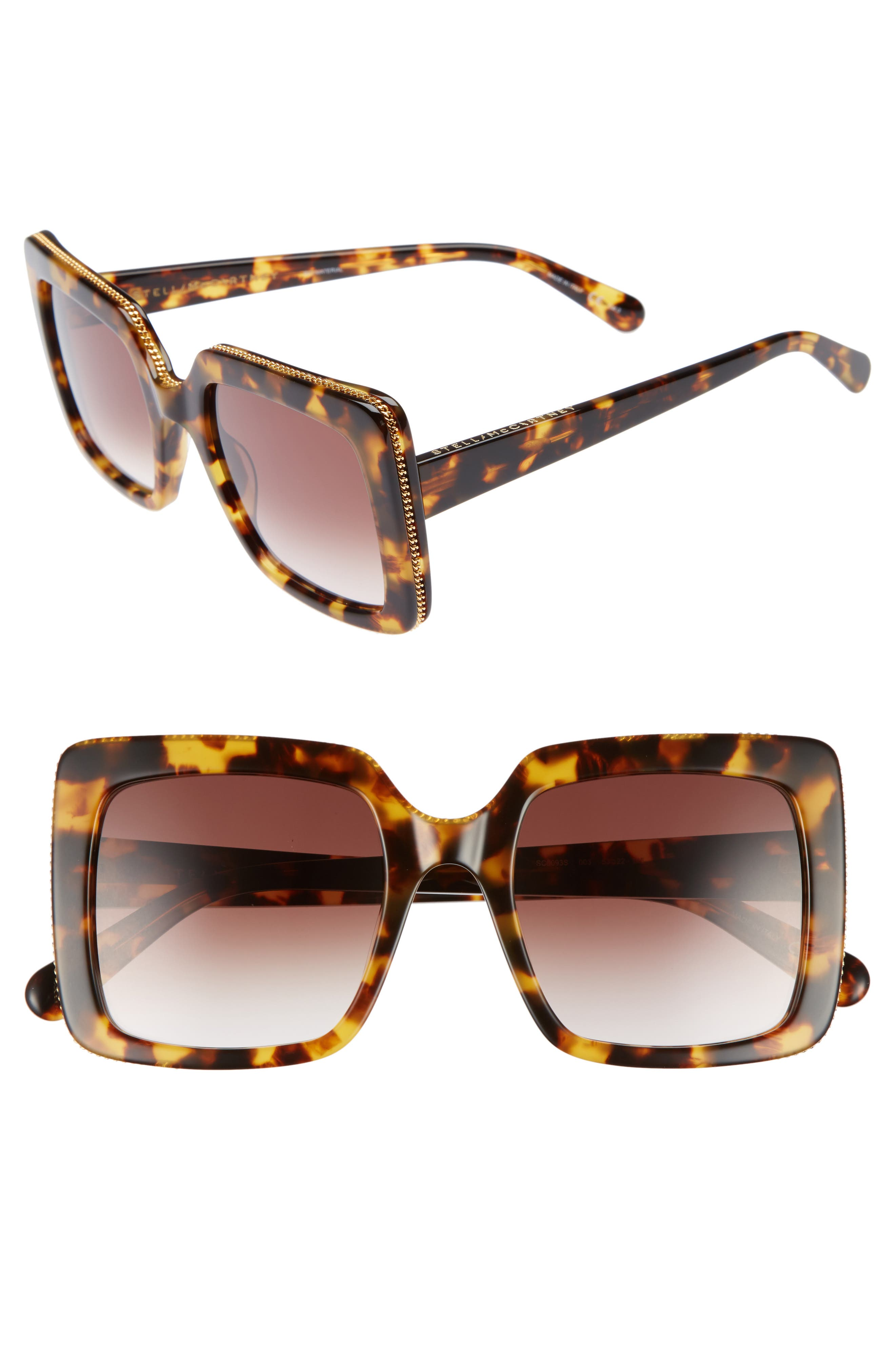 Alternate Image 1 Selected - Stella McCartney 53mm Square Sunglasses