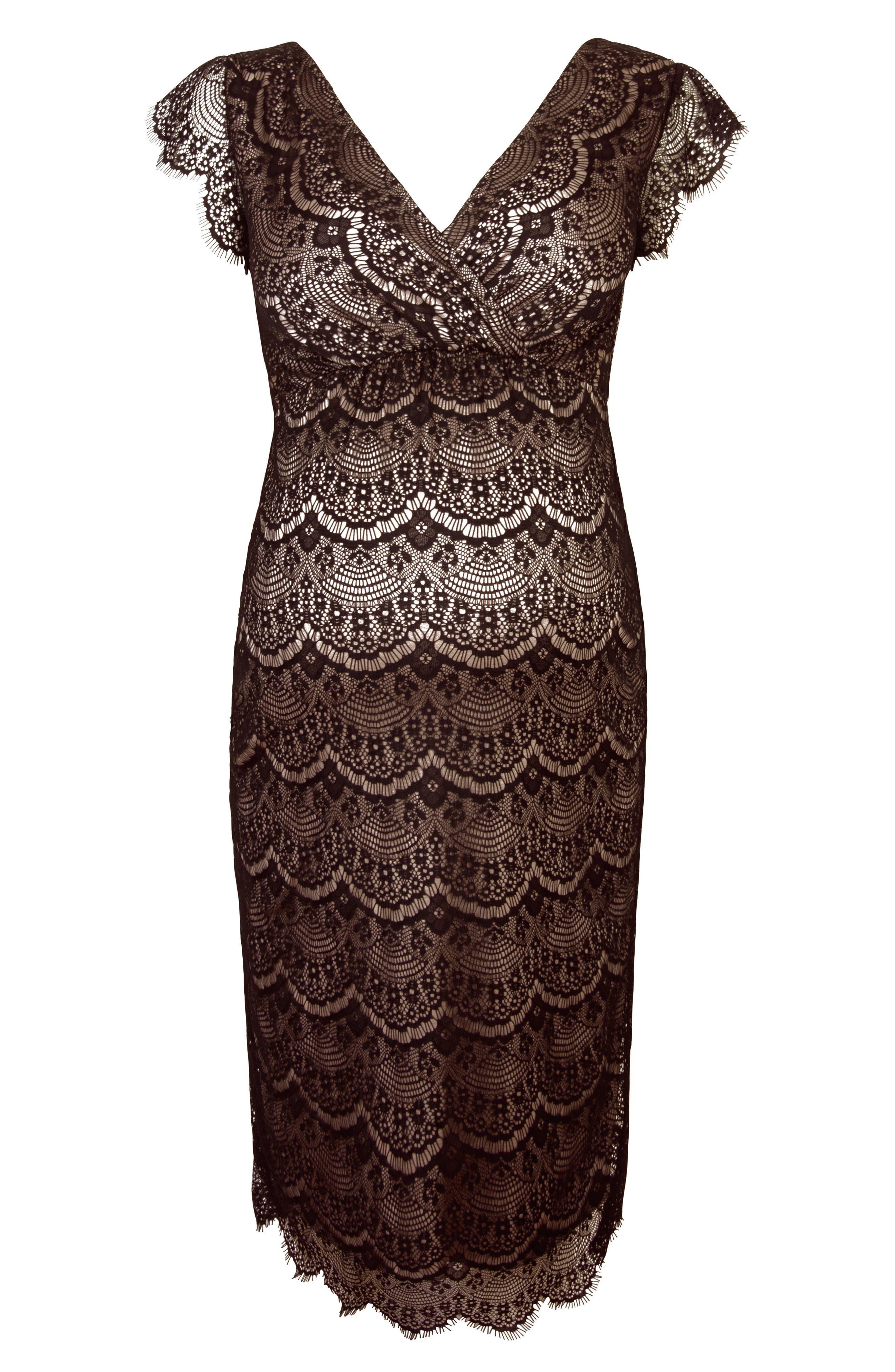 Imogen Maternity Dress,                             Alternate thumbnail 5, color,                             Black