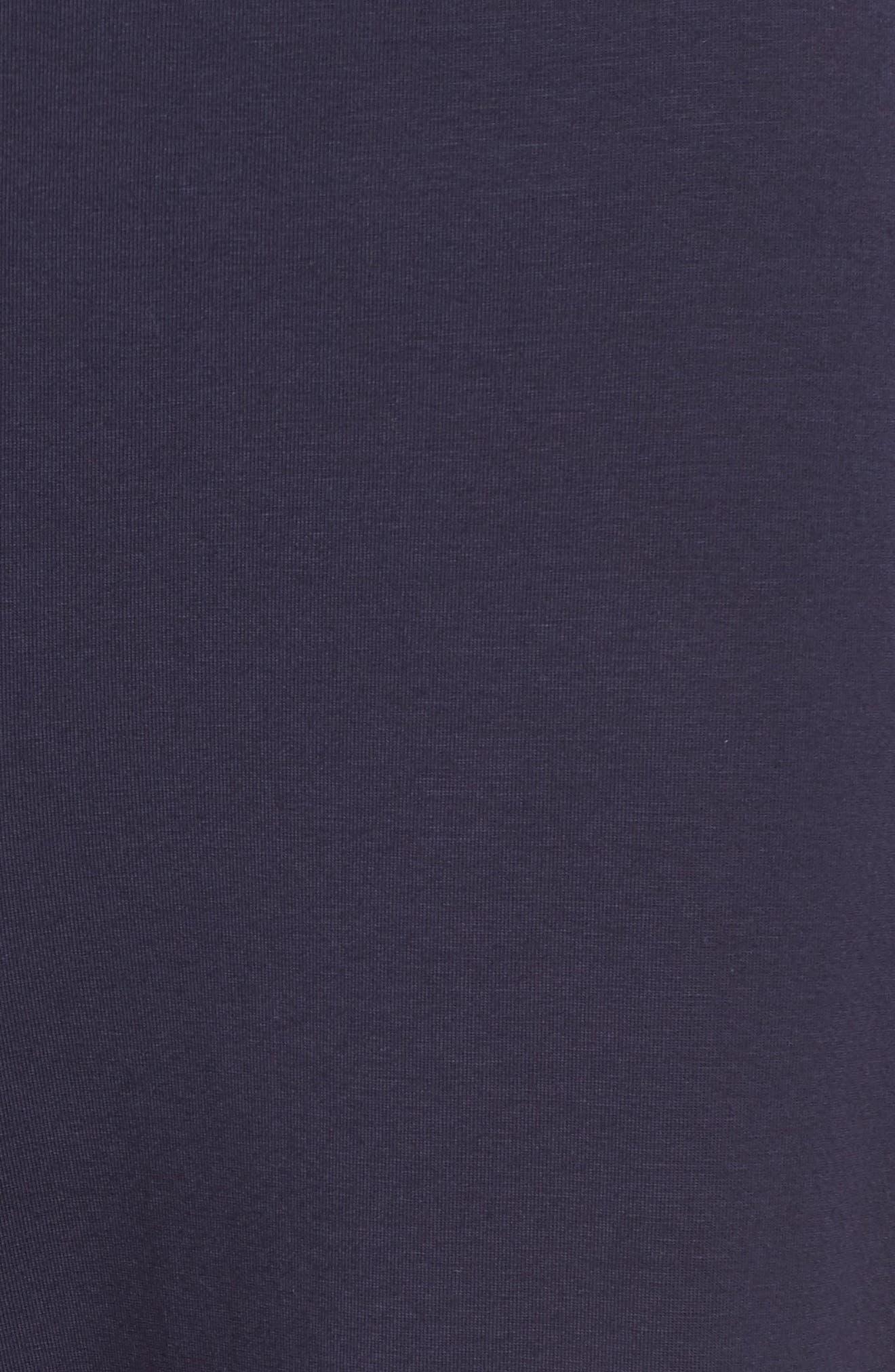 Stretch Organic Cotton Crop Pants,                             Alternate thumbnail 6, color,                             Midnight