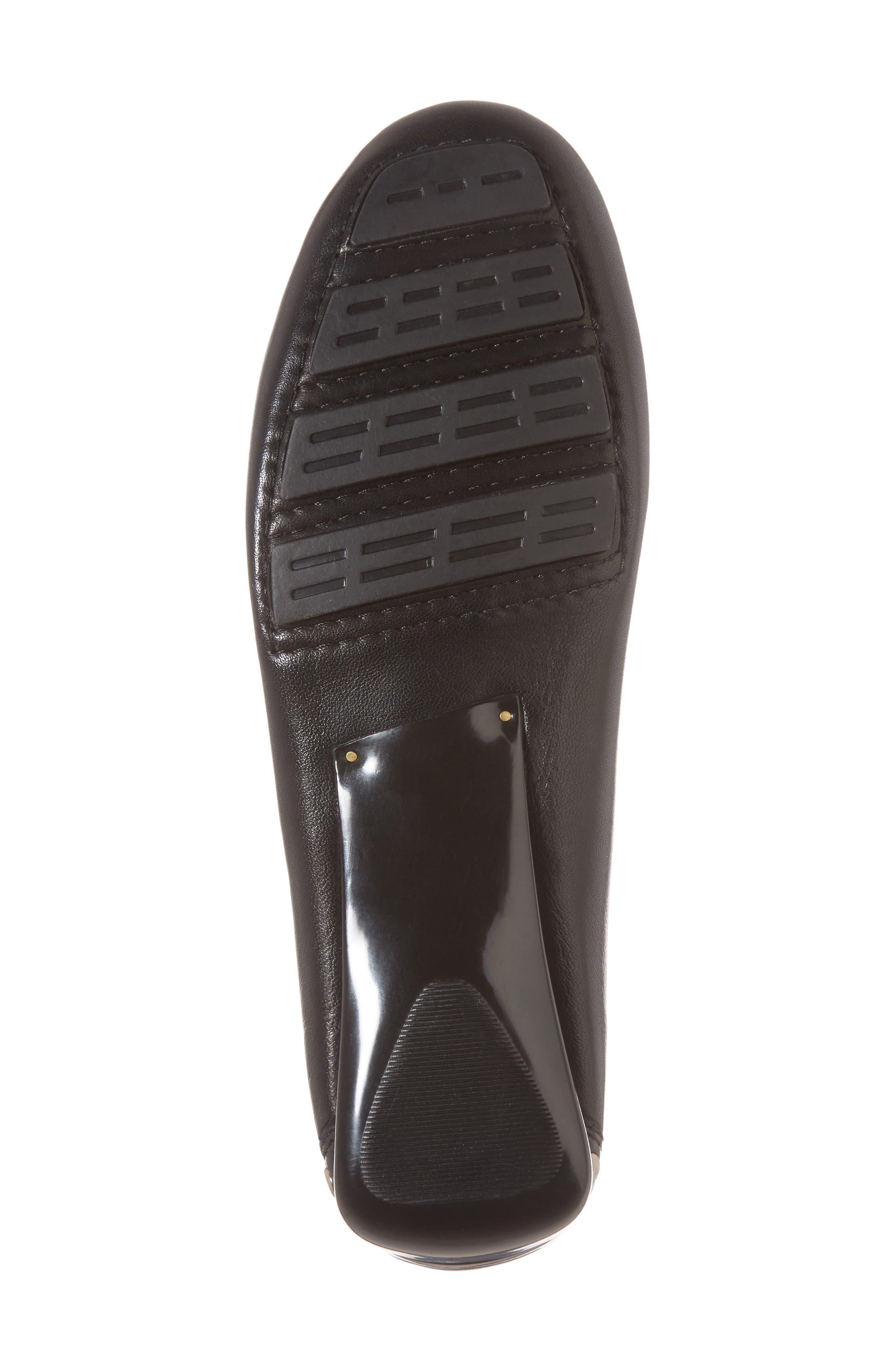 Tinae Studded Loafer,                             Alternate thumbnail 6, color,                             Black Leather