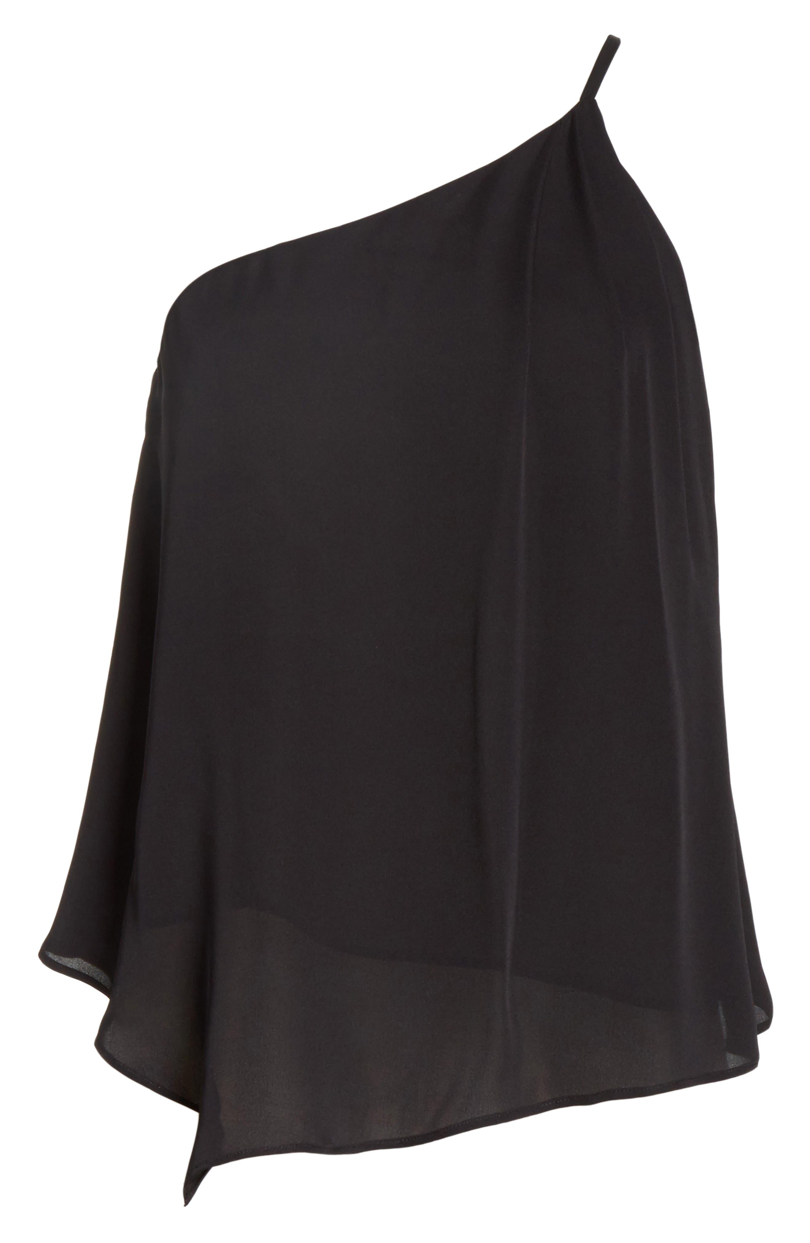 Alternate Image 6  - Joie Alaqua One-Shoulder Silk Top